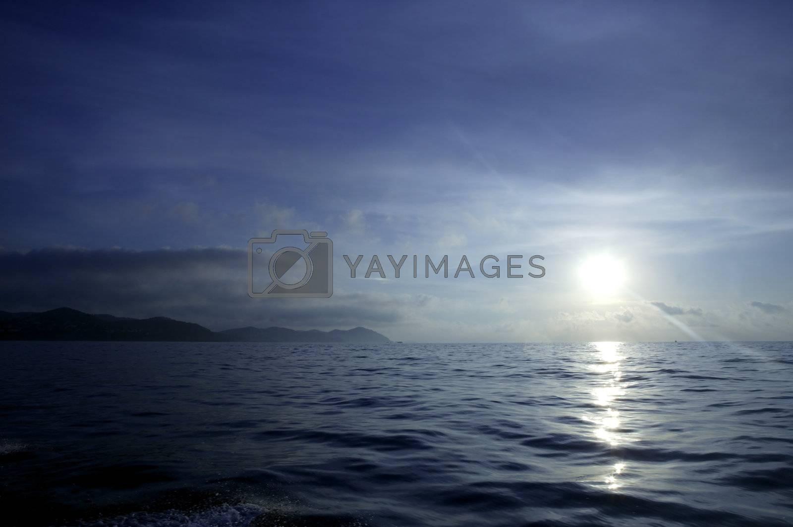 Royalty free image of Morning mediterranean blue seascape, Spain by lunamarina