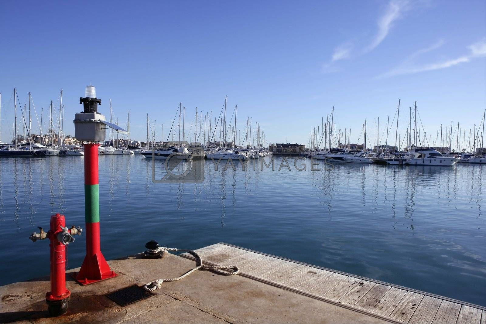 Royalty free image of Marine hydrant and beacon in mediterranean sea by lunamarina