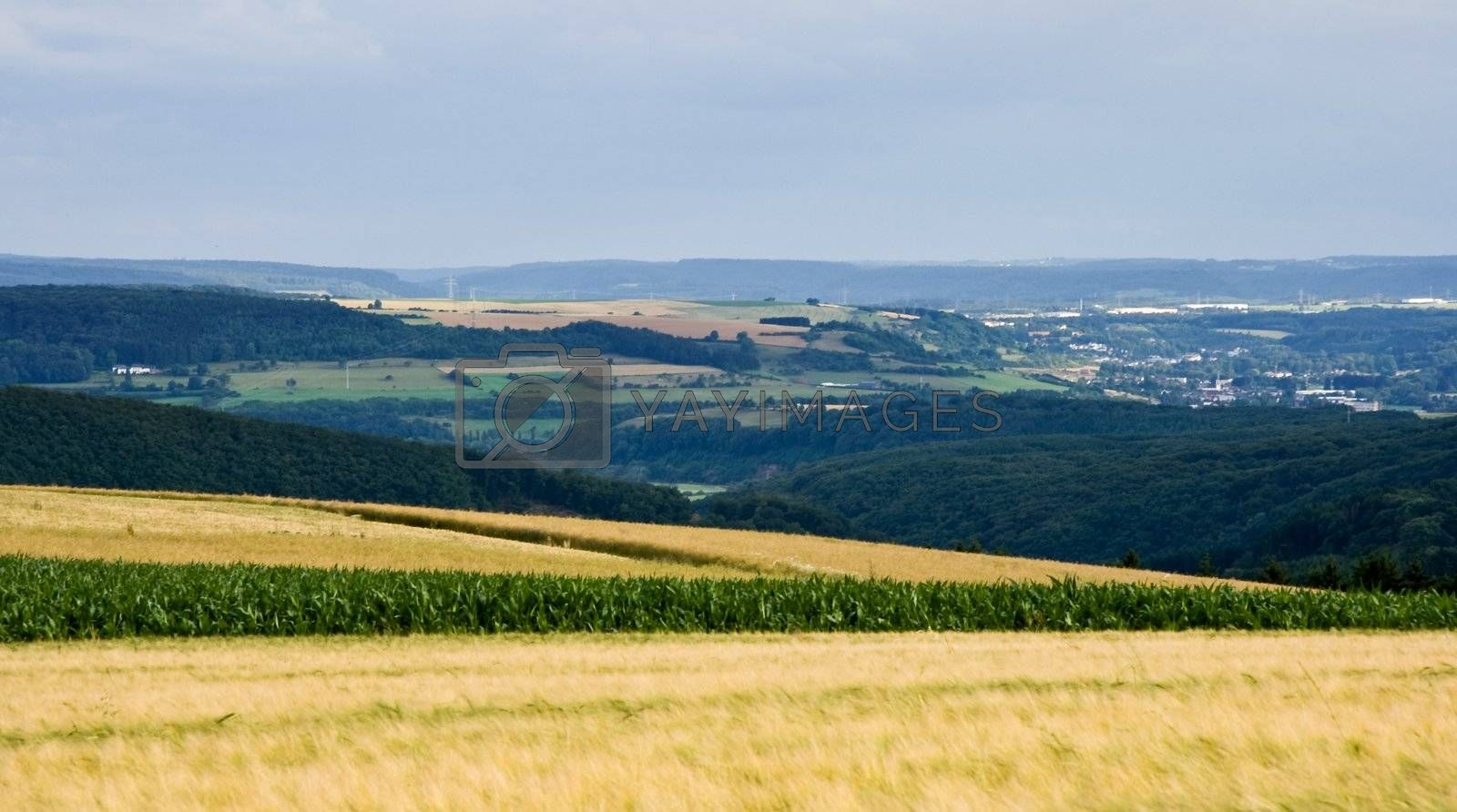 Royalty free image of View over landscape in Luxembourg, Europe by Colette