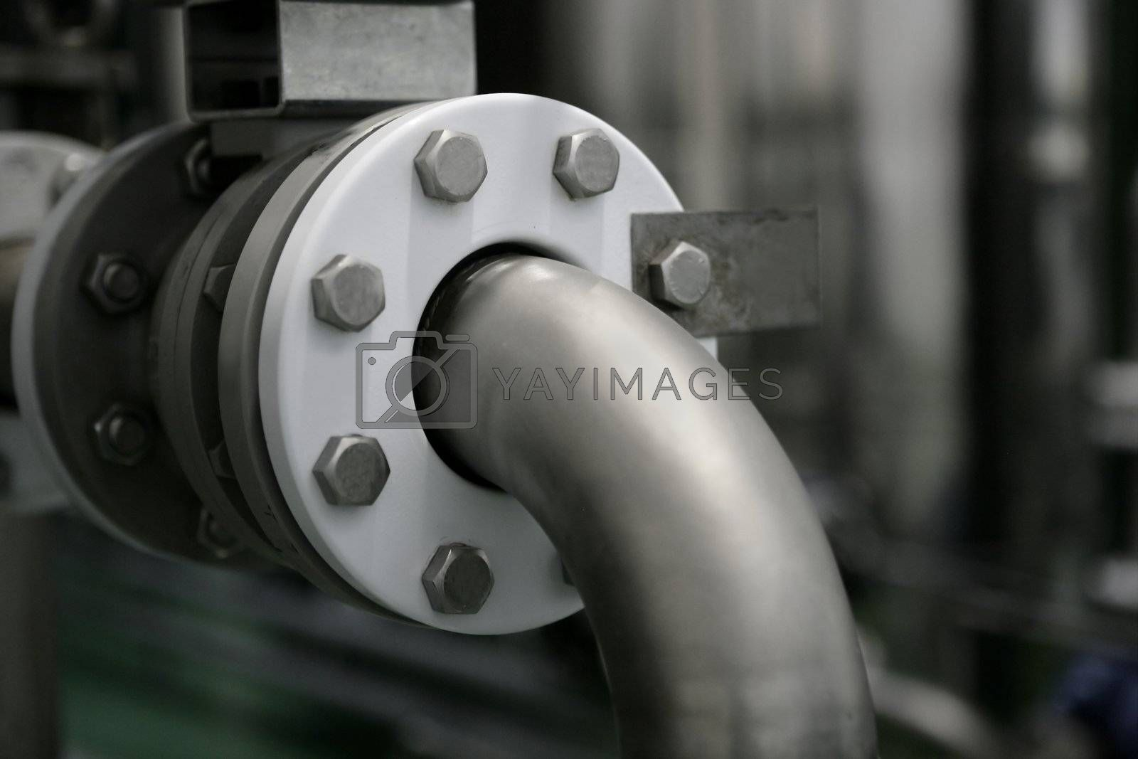 Royalty free image of Industrial pipe connection, factory plant by lunamarina