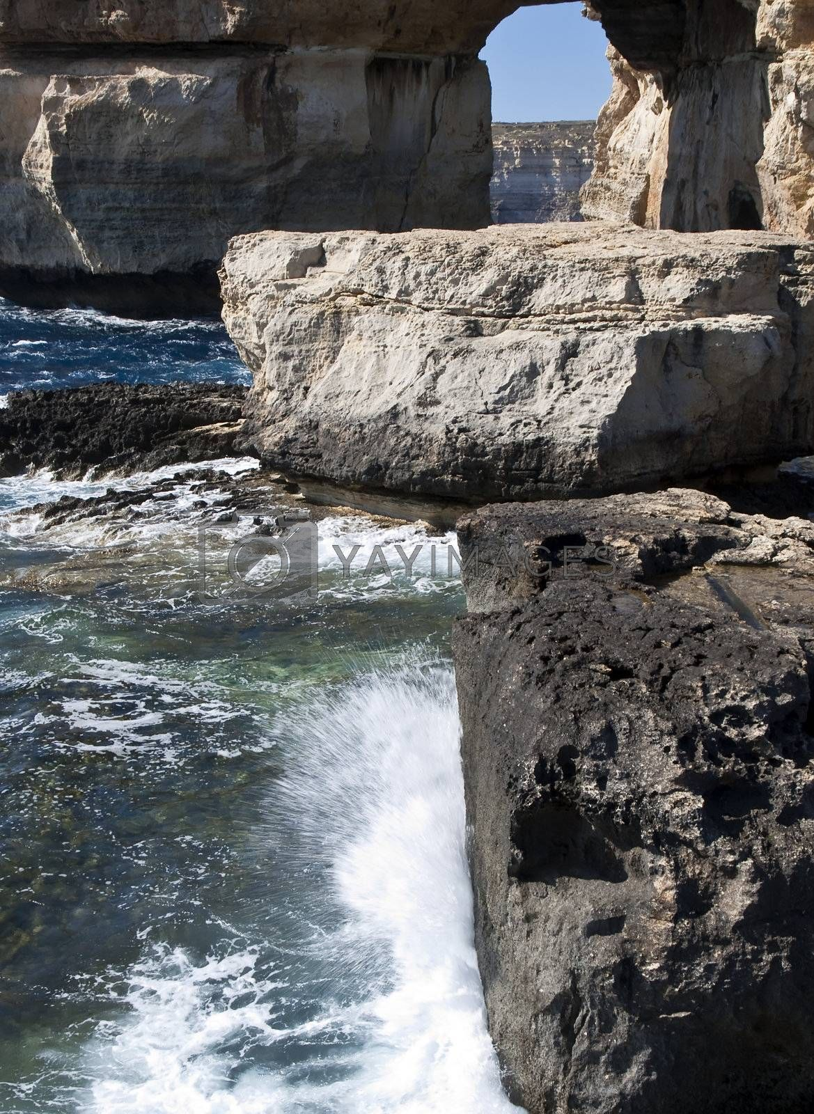 Royalty free image of The Azure Window and Blue Hole by PhotoWorks