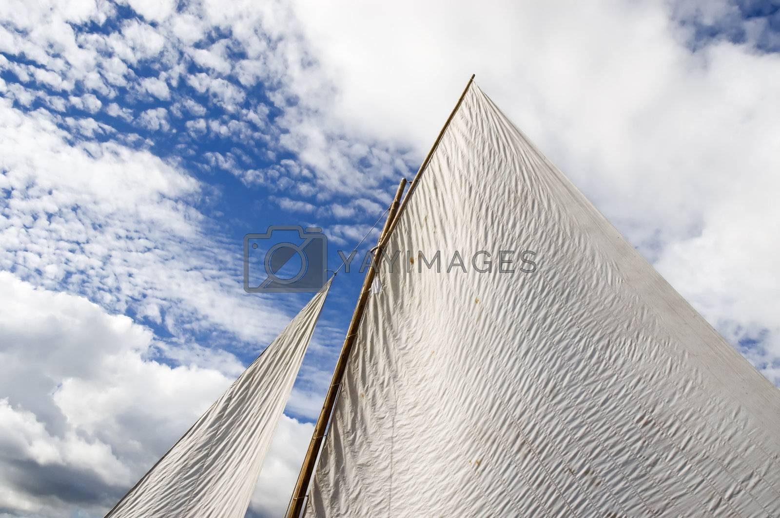 Sail against a blue sky