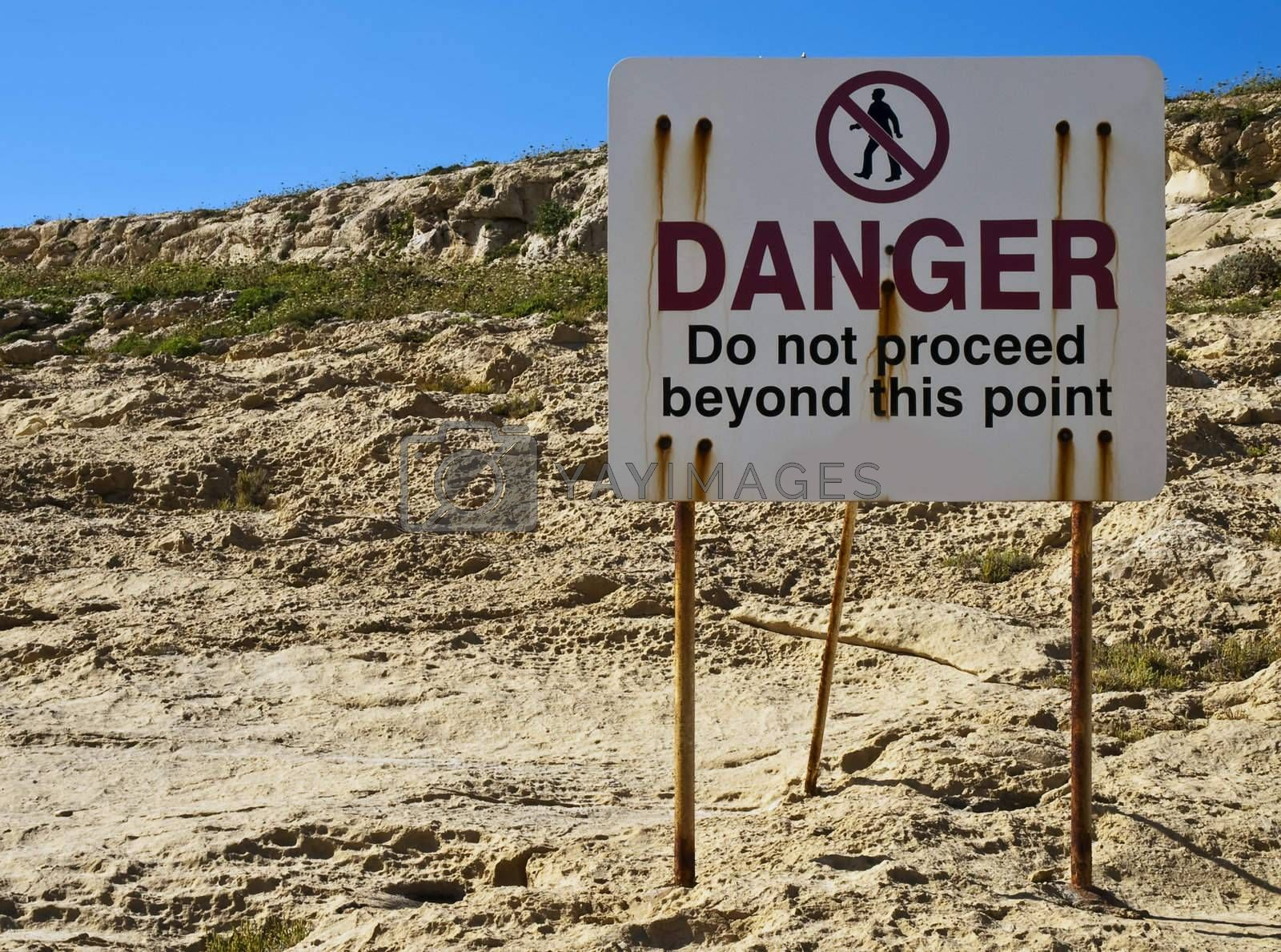Royalty free image of Do Not Proceed by PhotoWorks