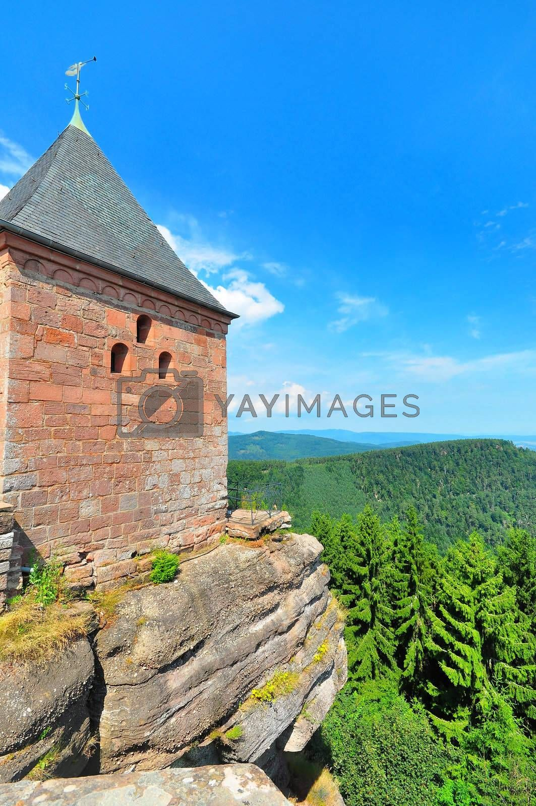 Royalty free image of Sainte Odile Monastery by mpgphoto