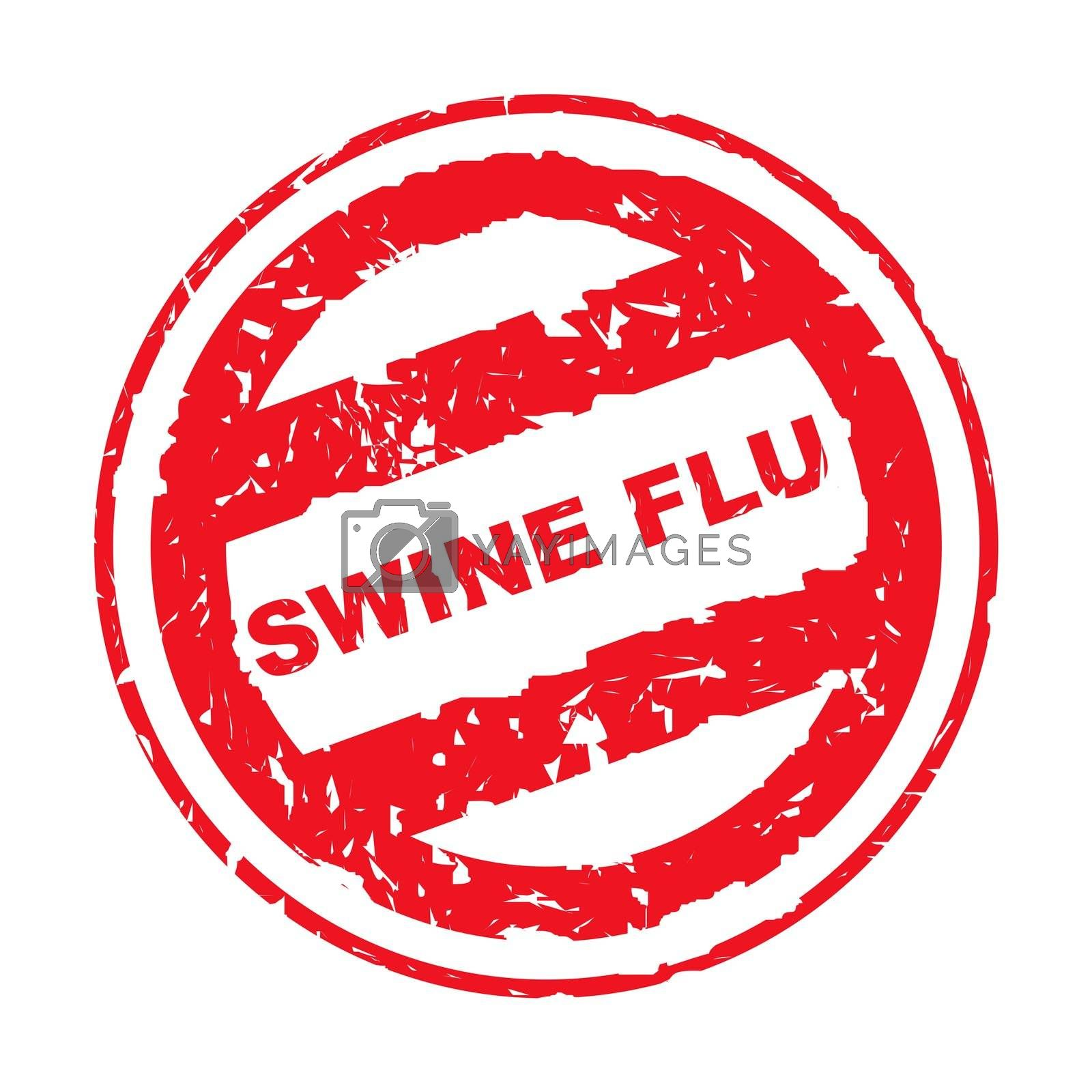 Royalty free image of Used Swine Flu stamp by speedfighter