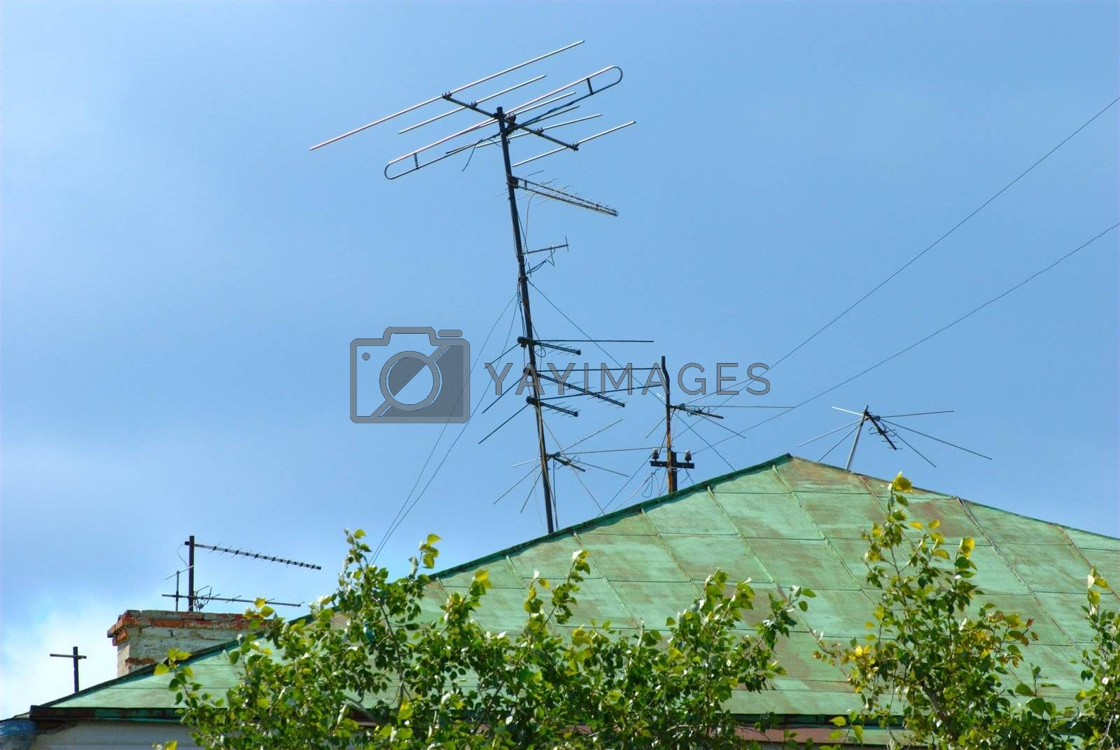 Royalty free image of TV antenna by Light