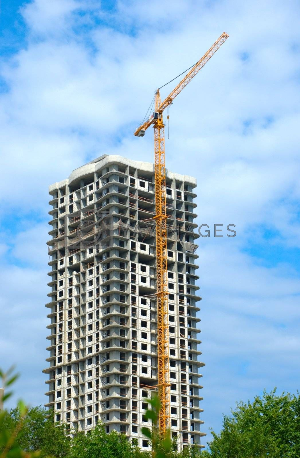 Royalty free image of Construction of multi-dwelling buildings by Light