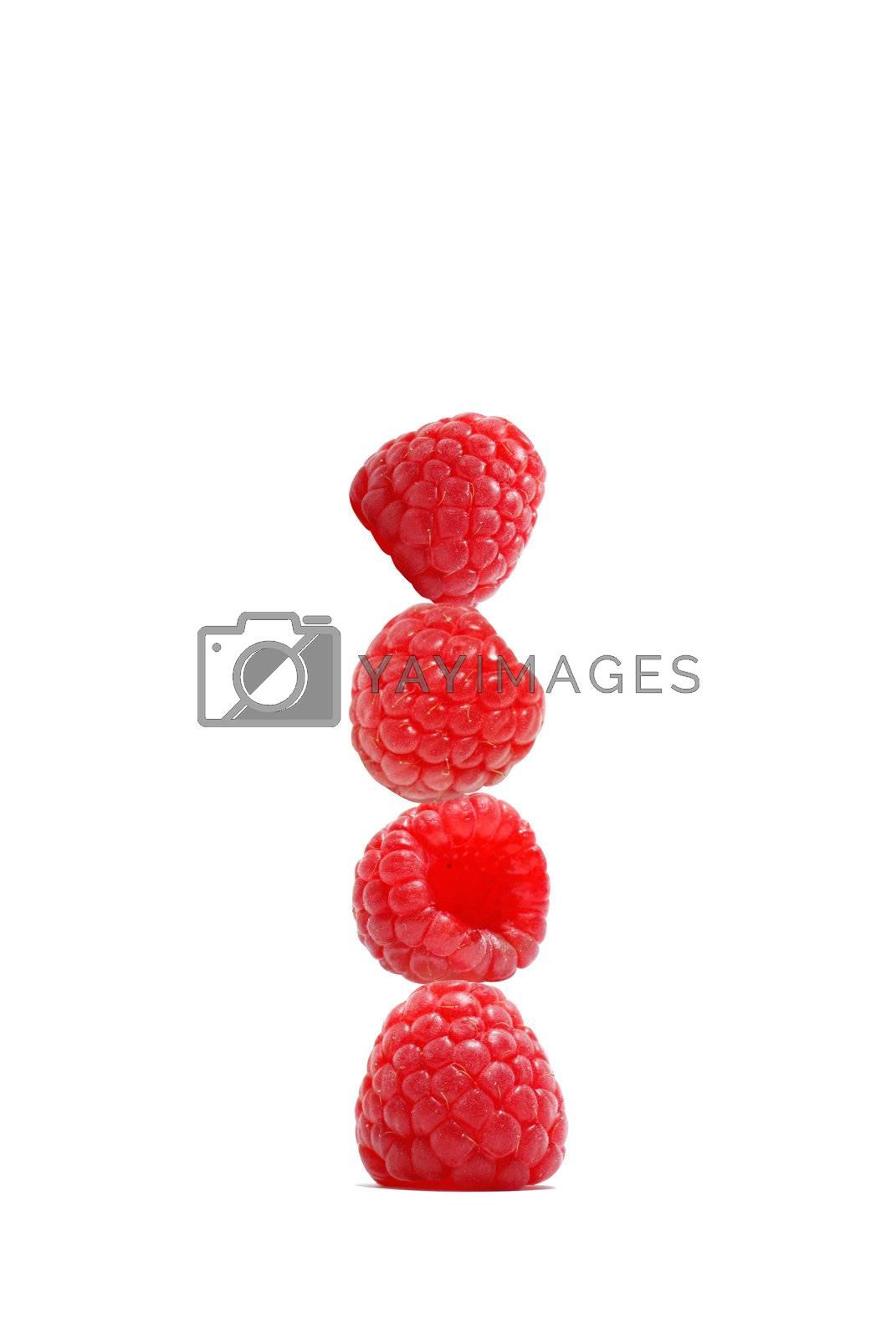 Royalty free image of Raspberries by leeser