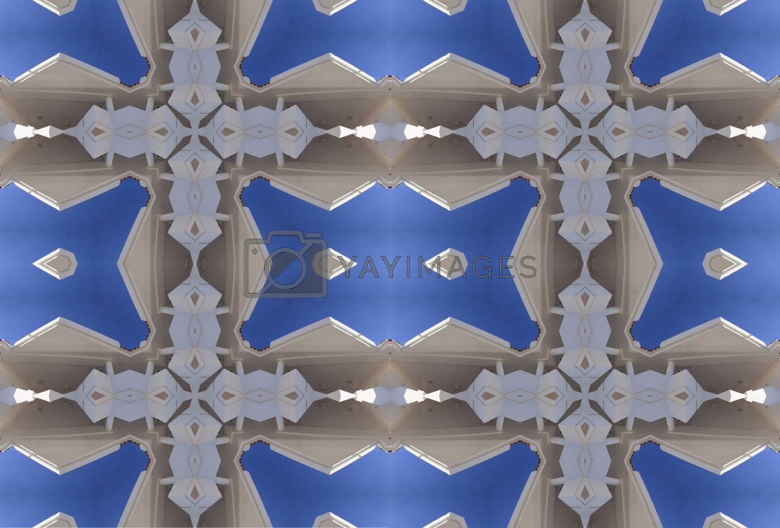 Royalty free image of grid effect abstract design by leafy