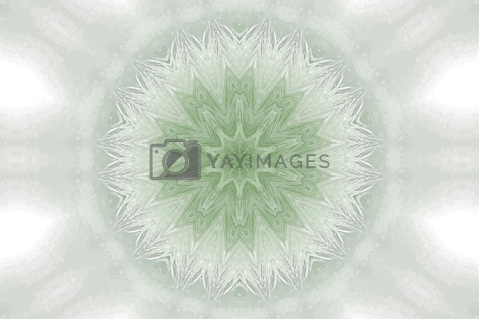 Royalty free image of abstract design by leafy