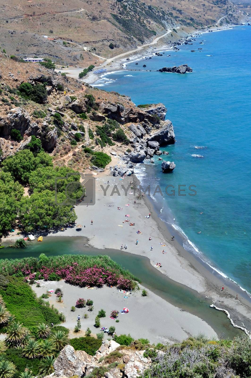 Royalty free image of View of Preveli Beach by FER737NG
