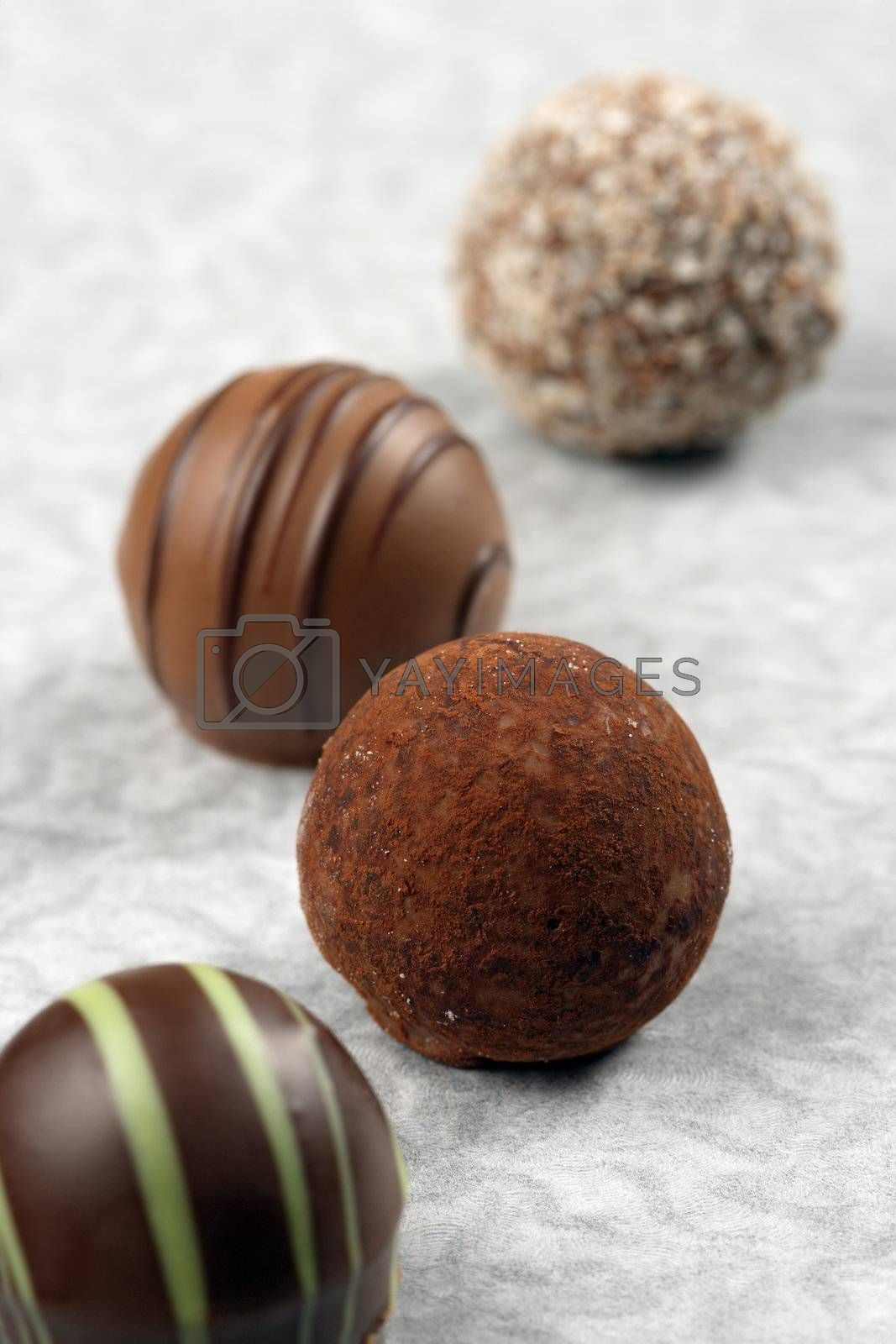 Royalty free image of Chocolate truffles and pralines by sumners