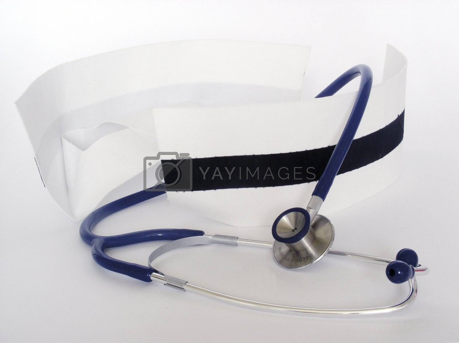 Royalty free image of nurse caps and stethoscope by kapp