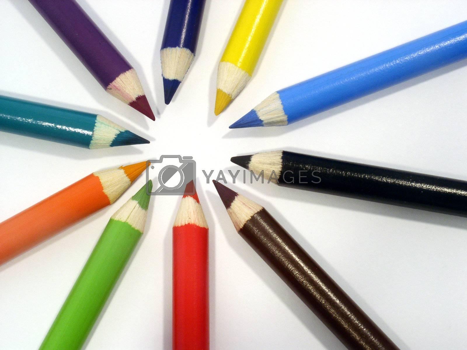Royalty free image of crayons by kapp