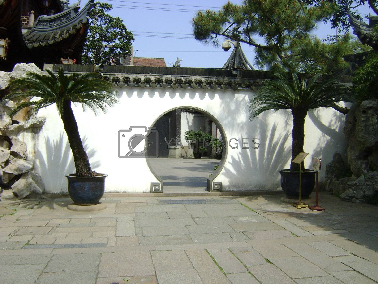 Royalty free image of Chinese archway by Beckylovesasia