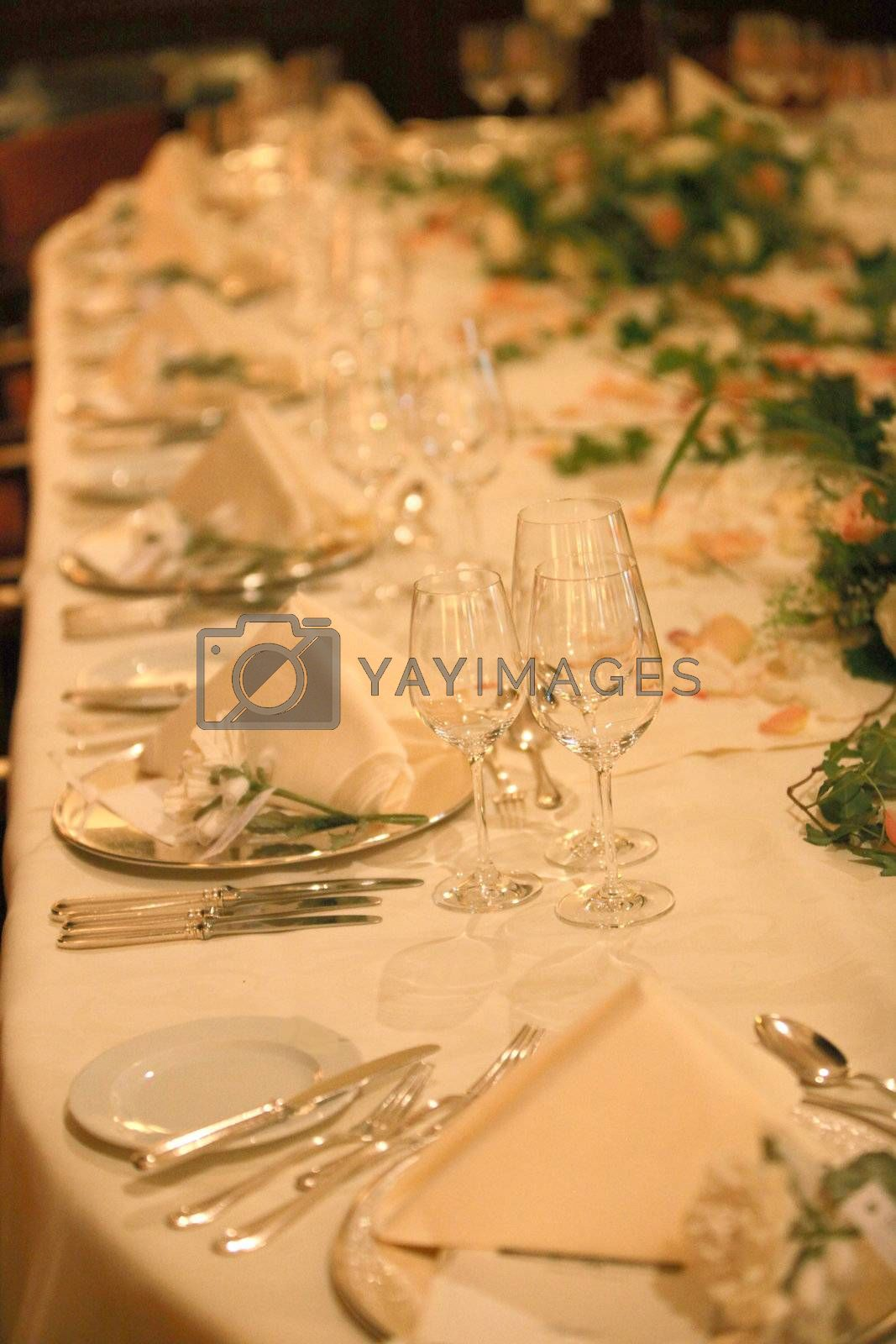 Royalty free image of table decoration by Farina6000