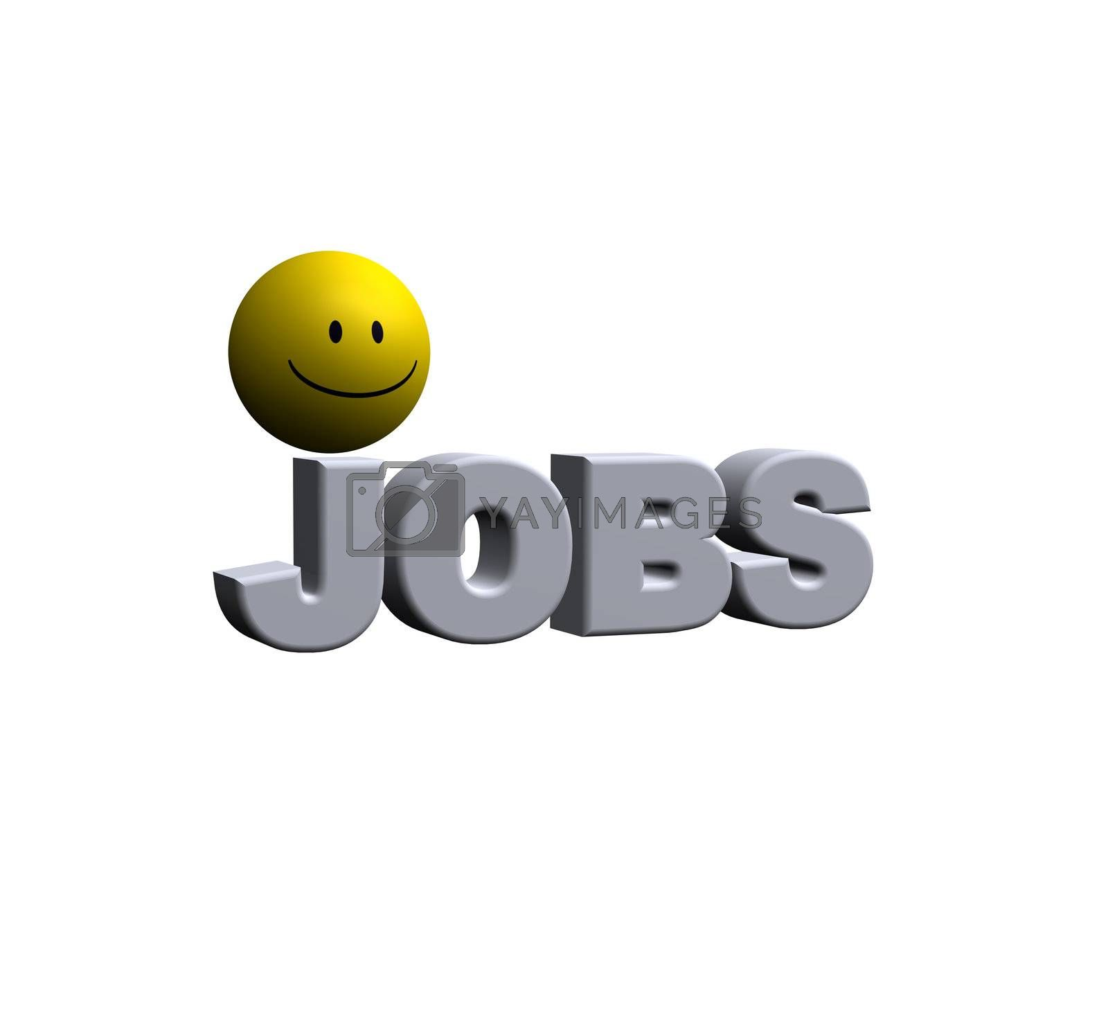 Royalty free image of jobs by drizzd