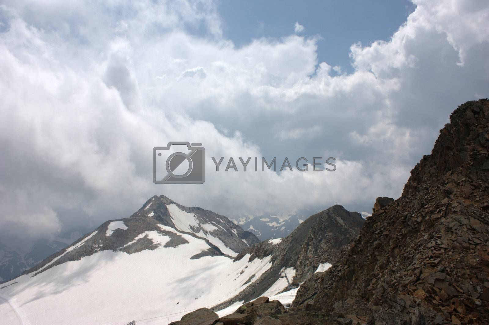 Royalty free image of Stubai glacier in Tyrol by cflux