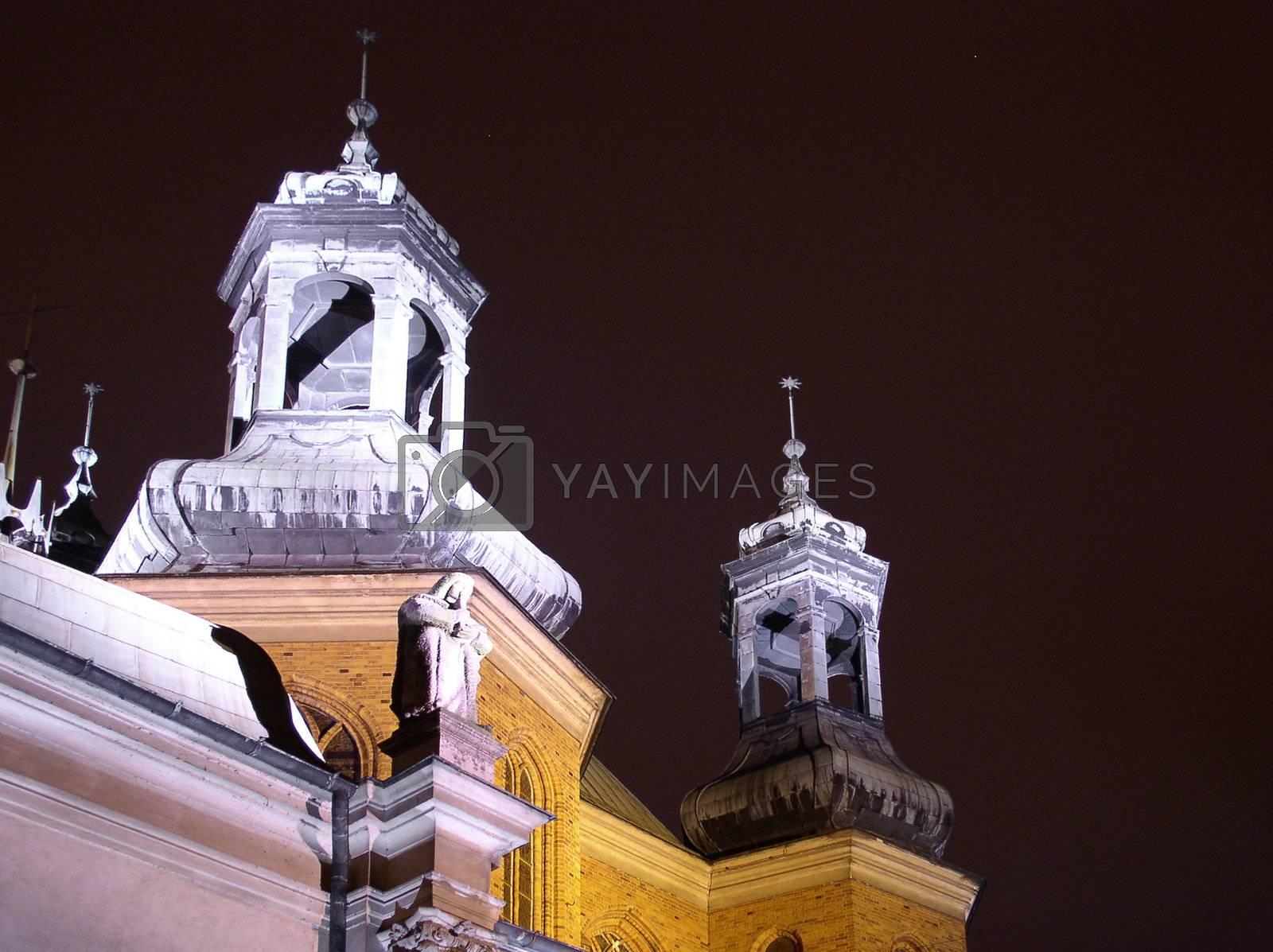 Royalty free image of church at night by kapp