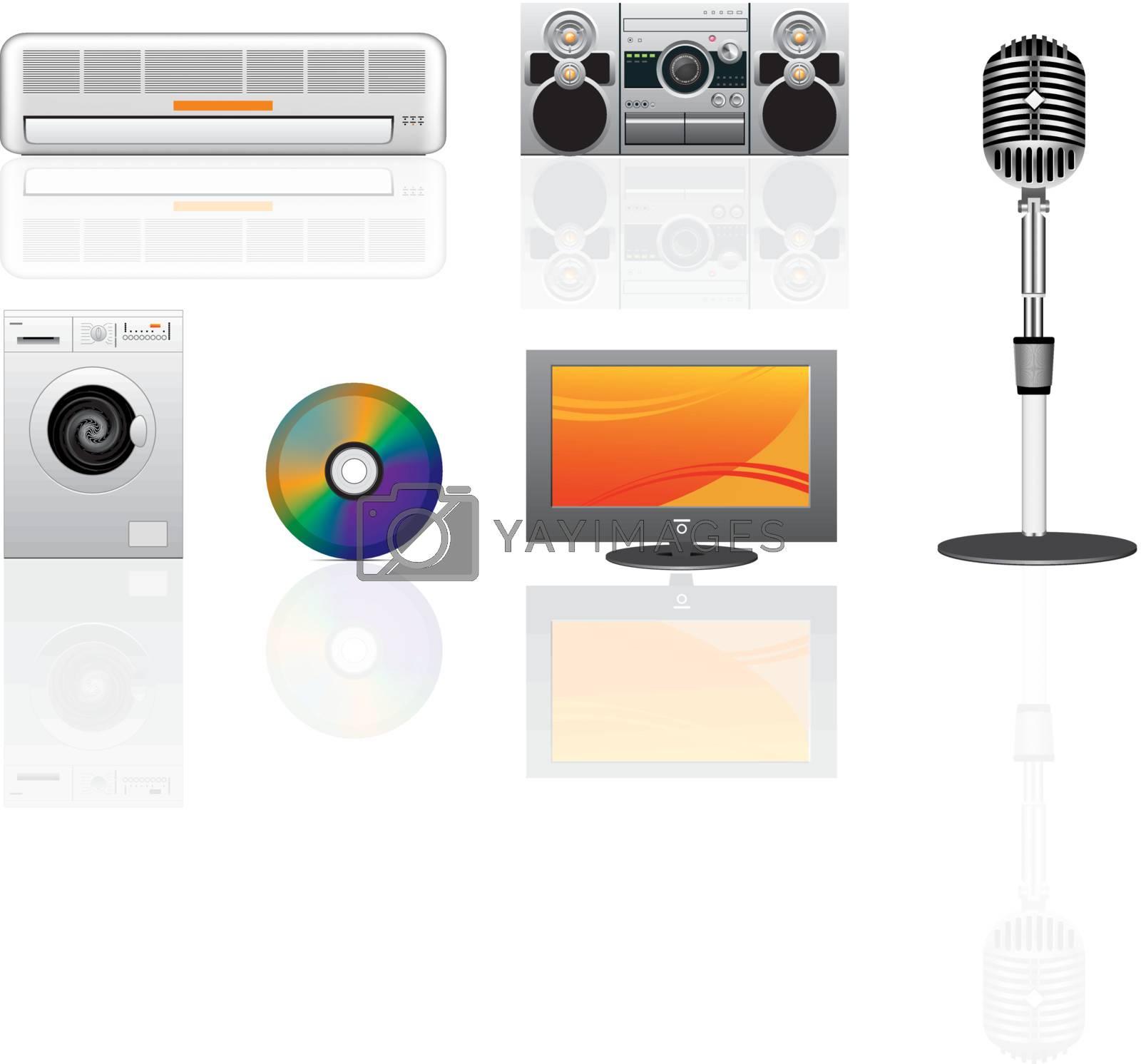 appliance svector icons set