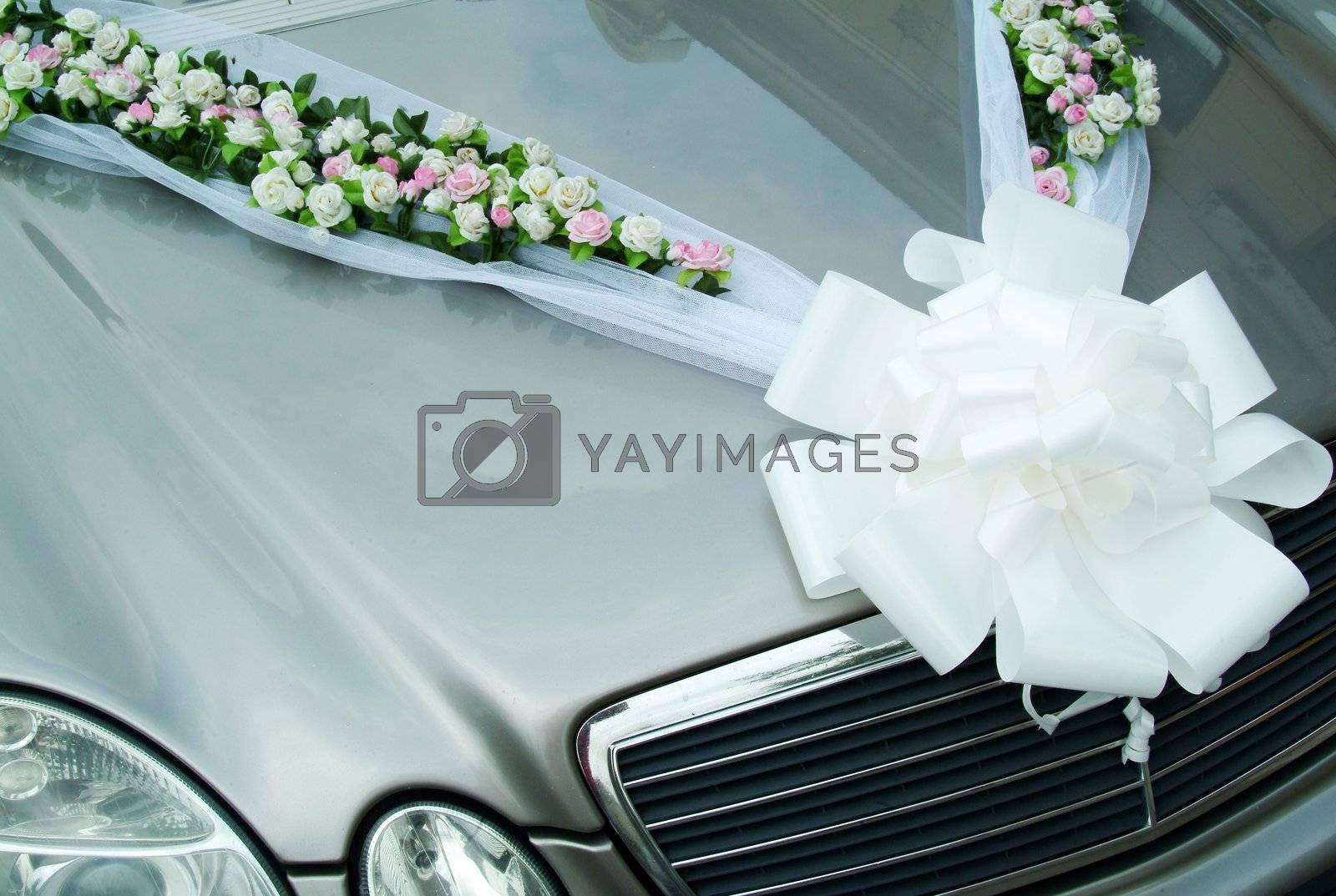 luxury car decorated for celebration