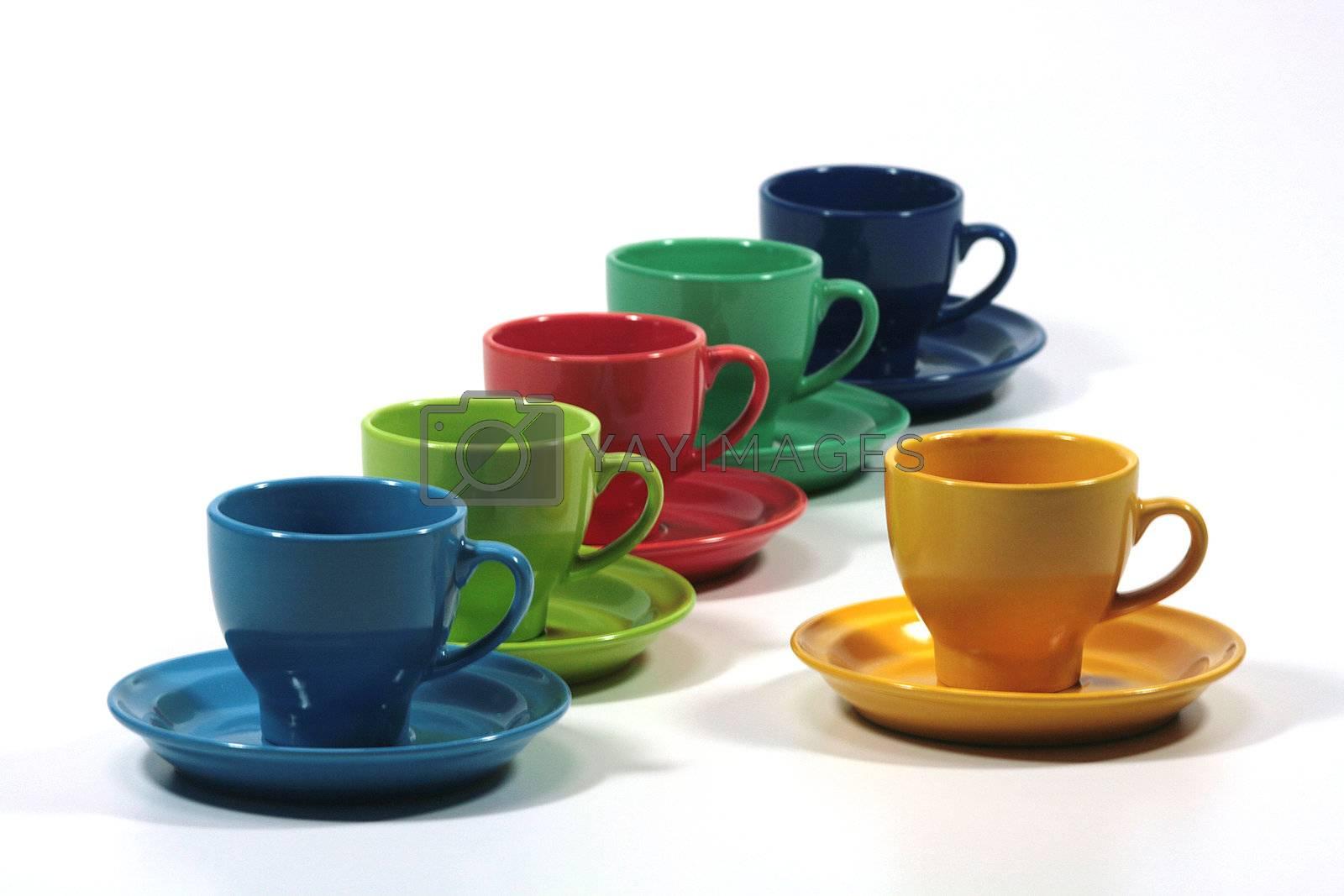 Color tea cups - photos for designers