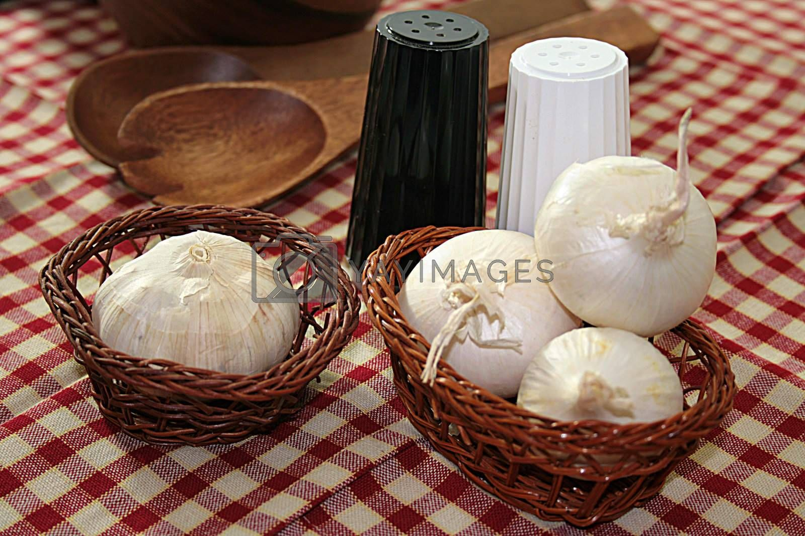 Menu for Father's Day Onion, Garlic