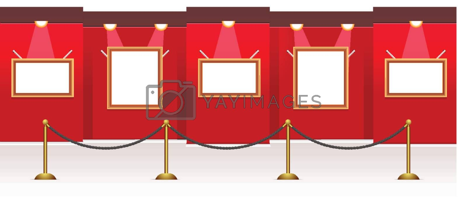 vector gallery room for your images, it is easy to resize frames and place your photo or pictures