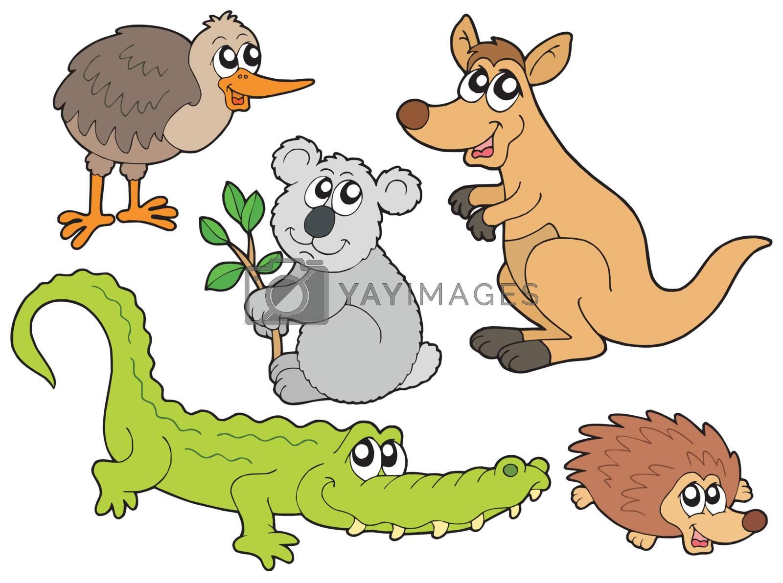 Australian animals collection - vector illustration.