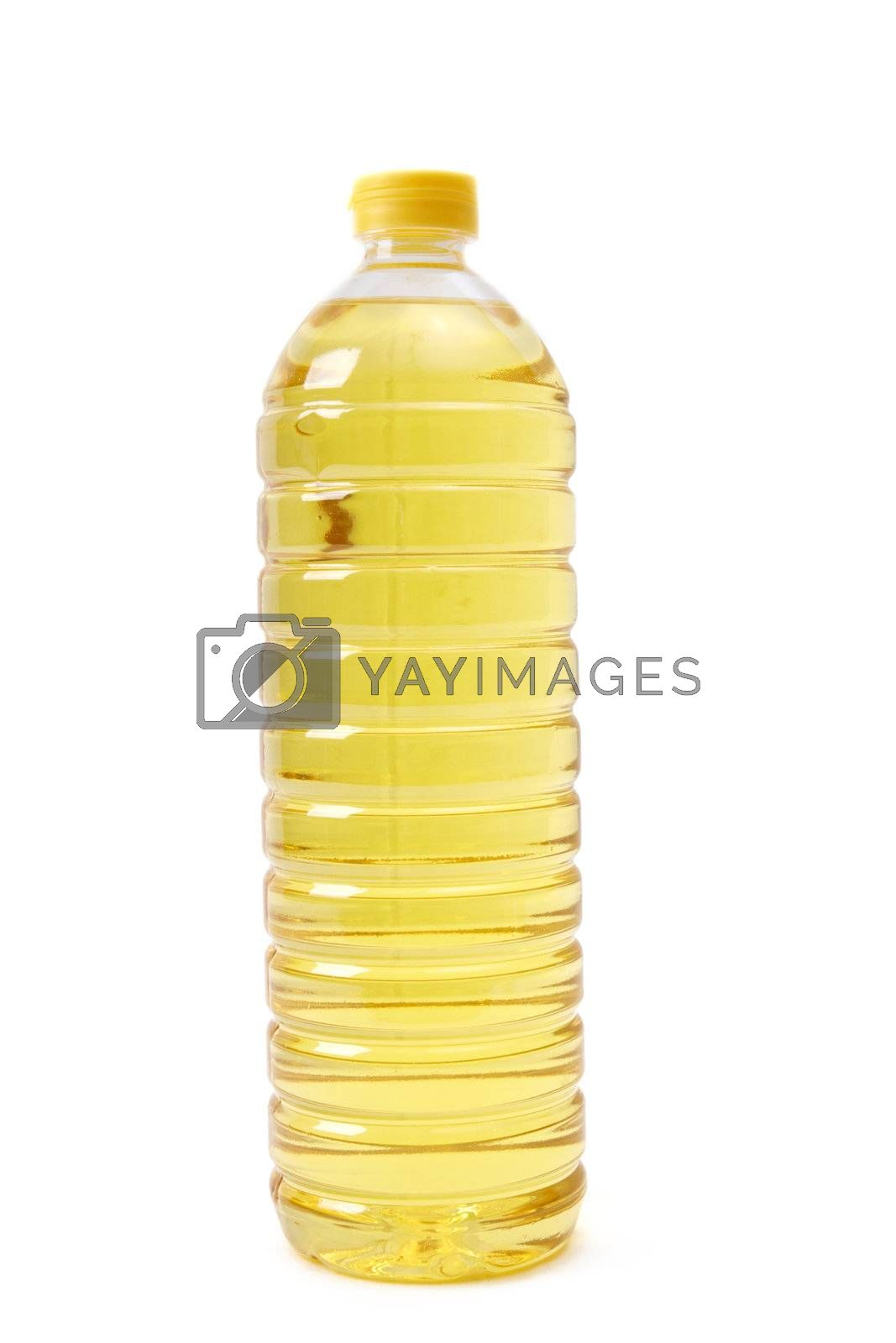 Isolated oil bottle on white background
