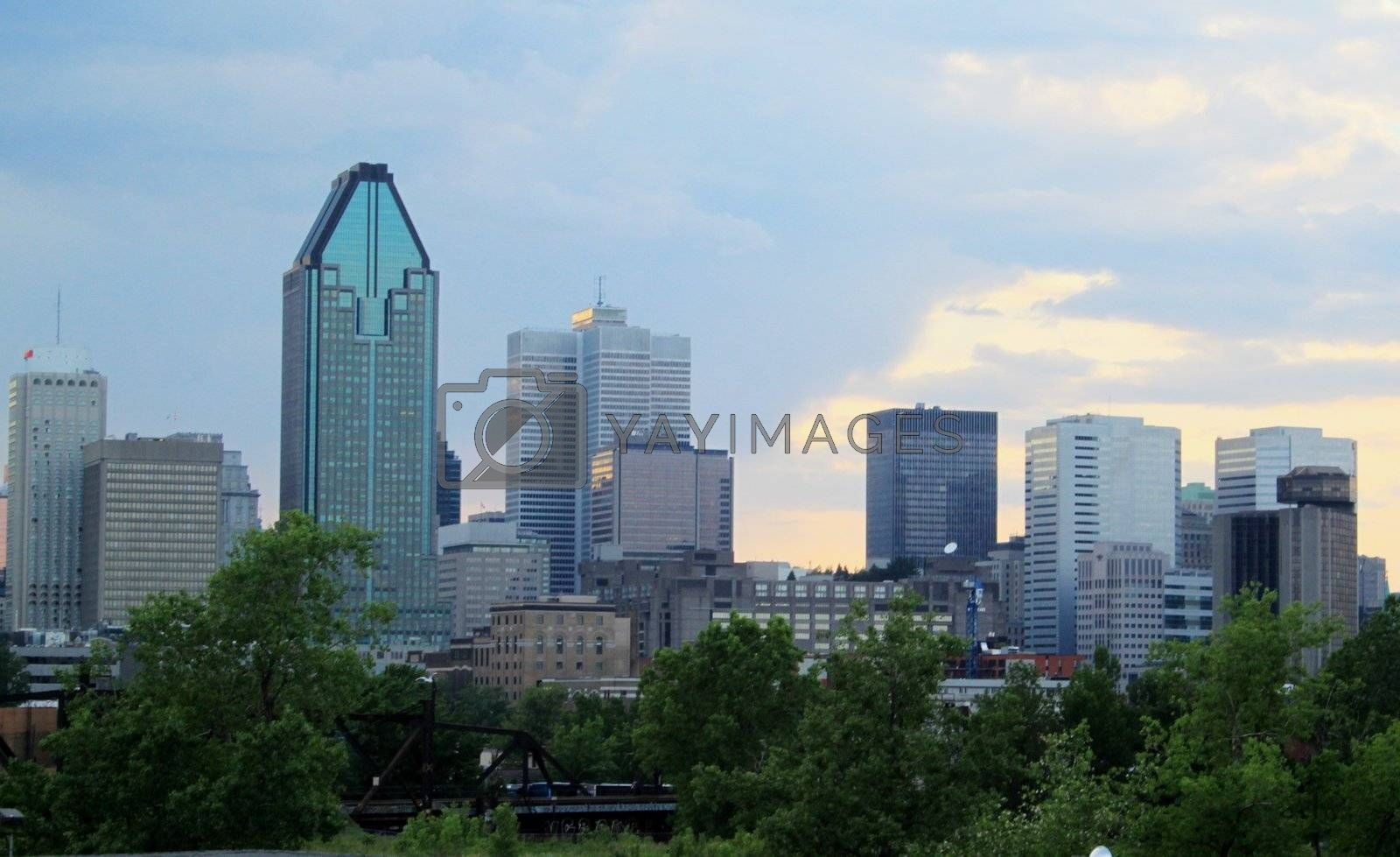 Montreal skyline as stormy clouds move in