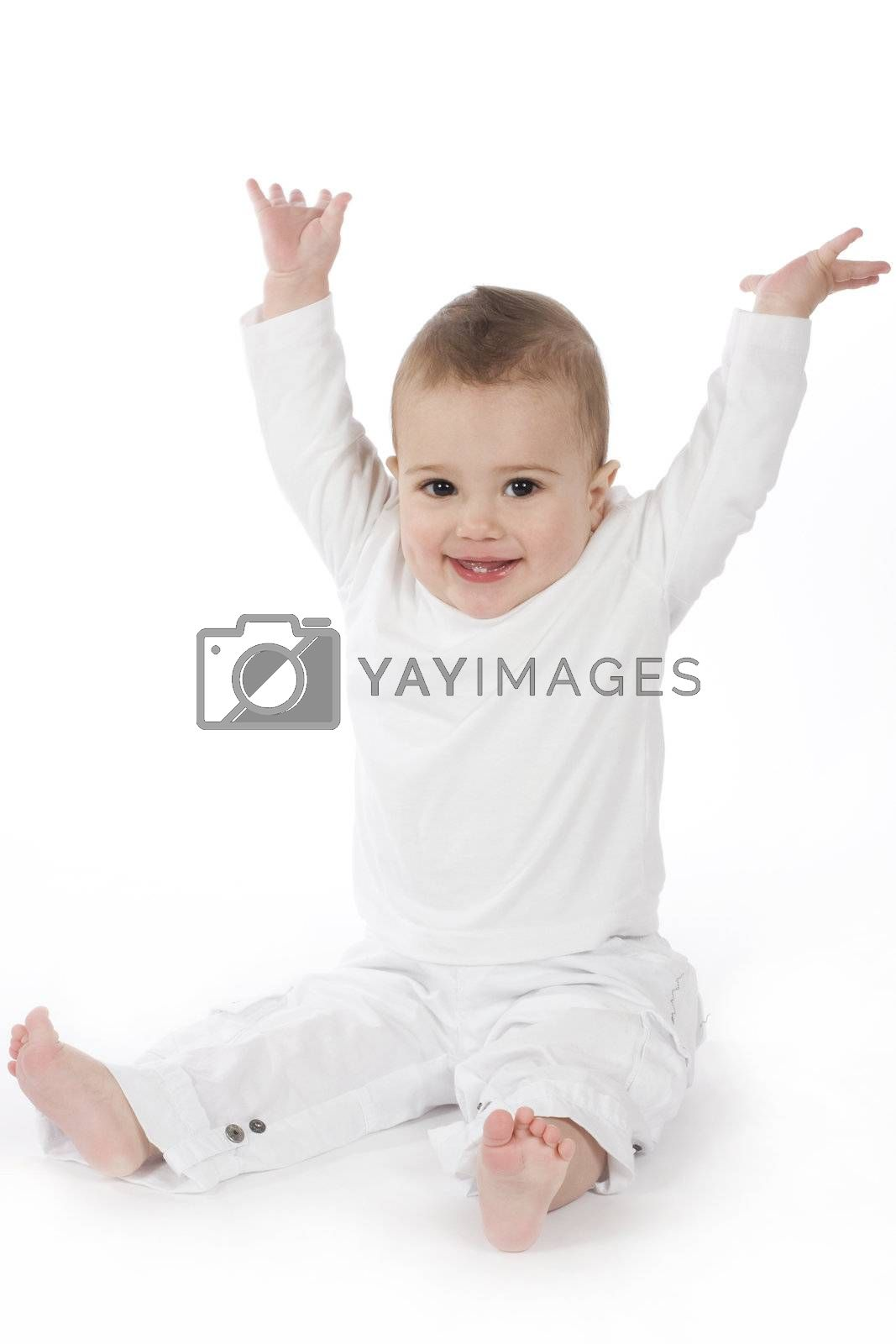 cute little boy on his first birthday