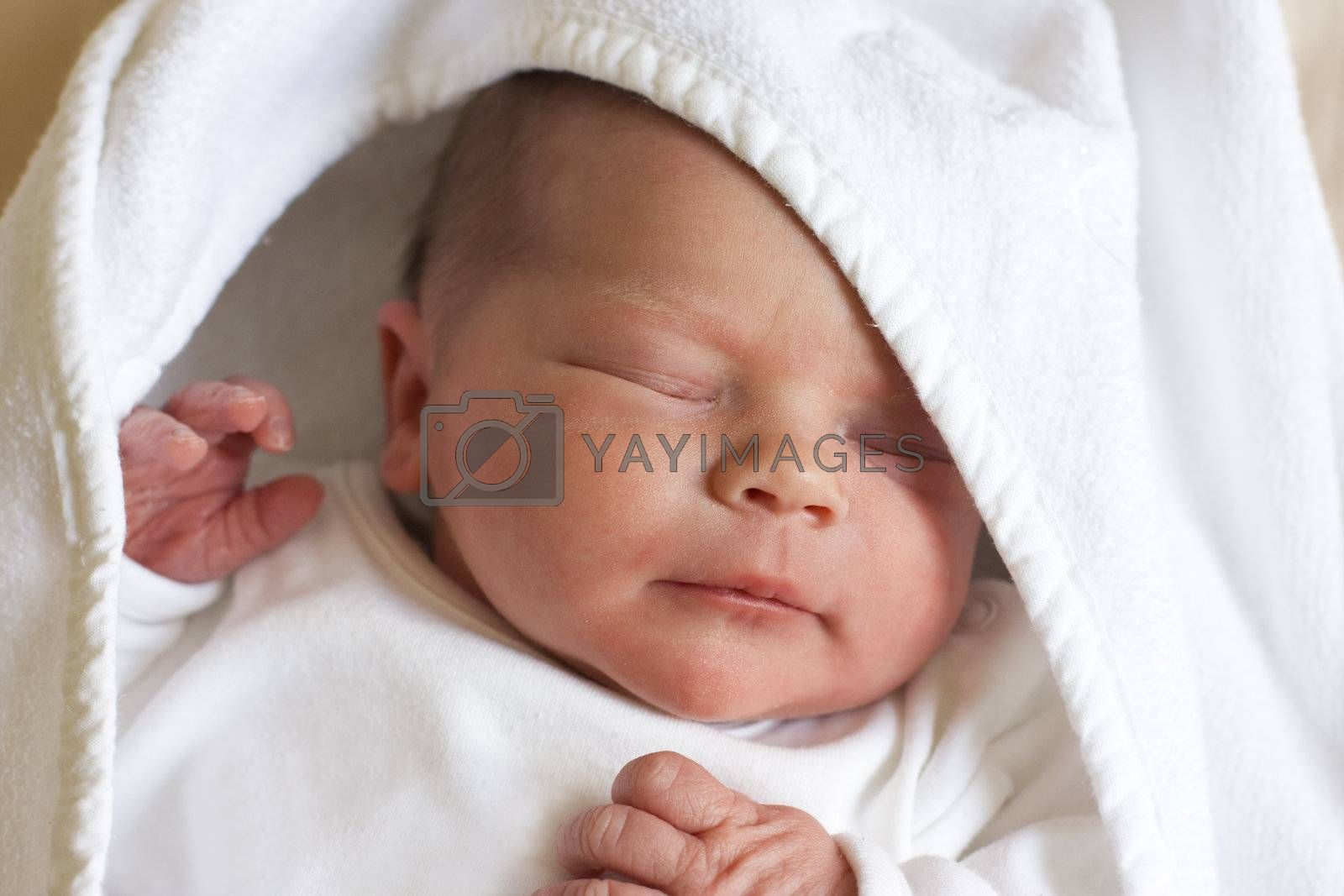 newborn baby, couple of hours old