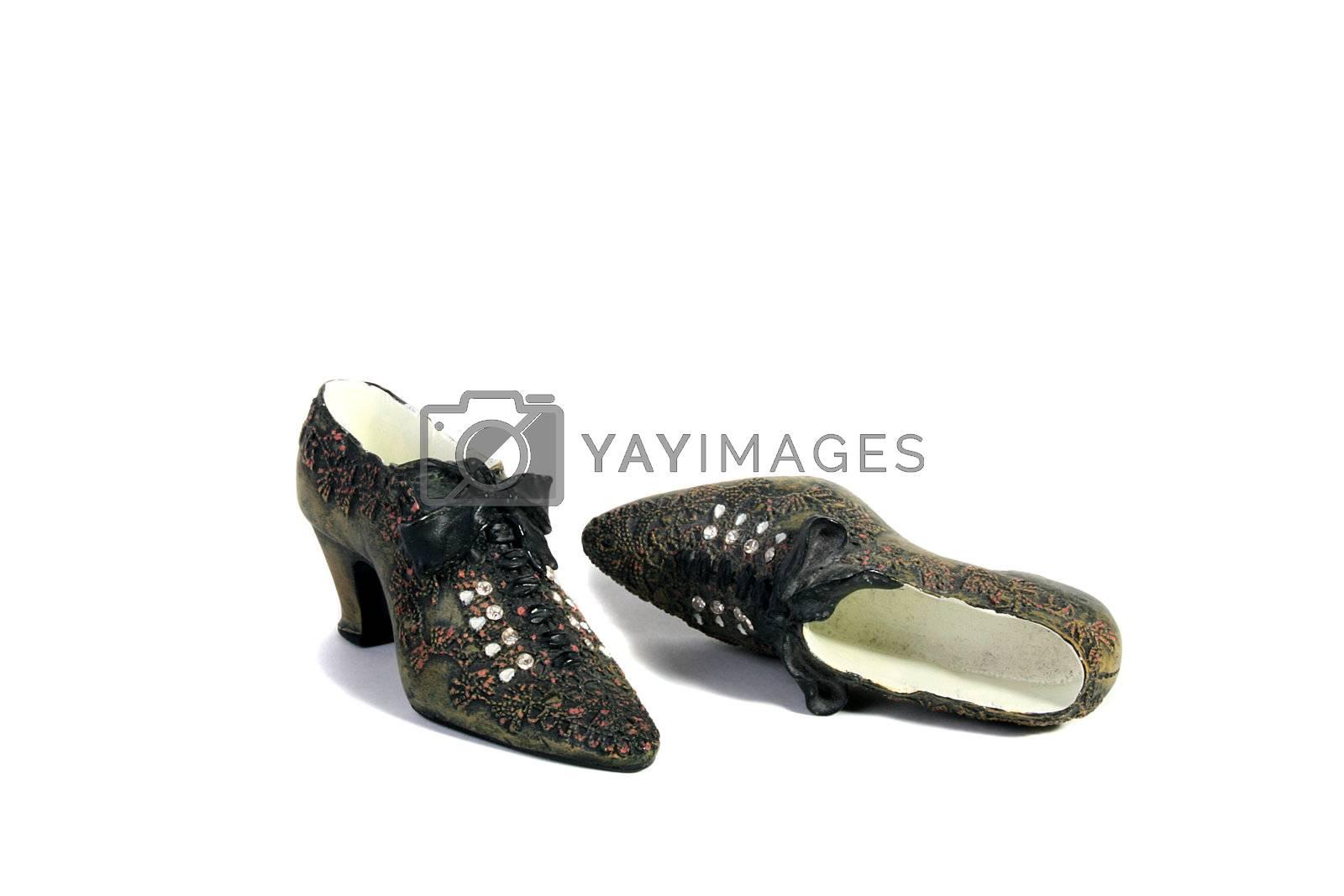 Ceramic decorative shoes for design.