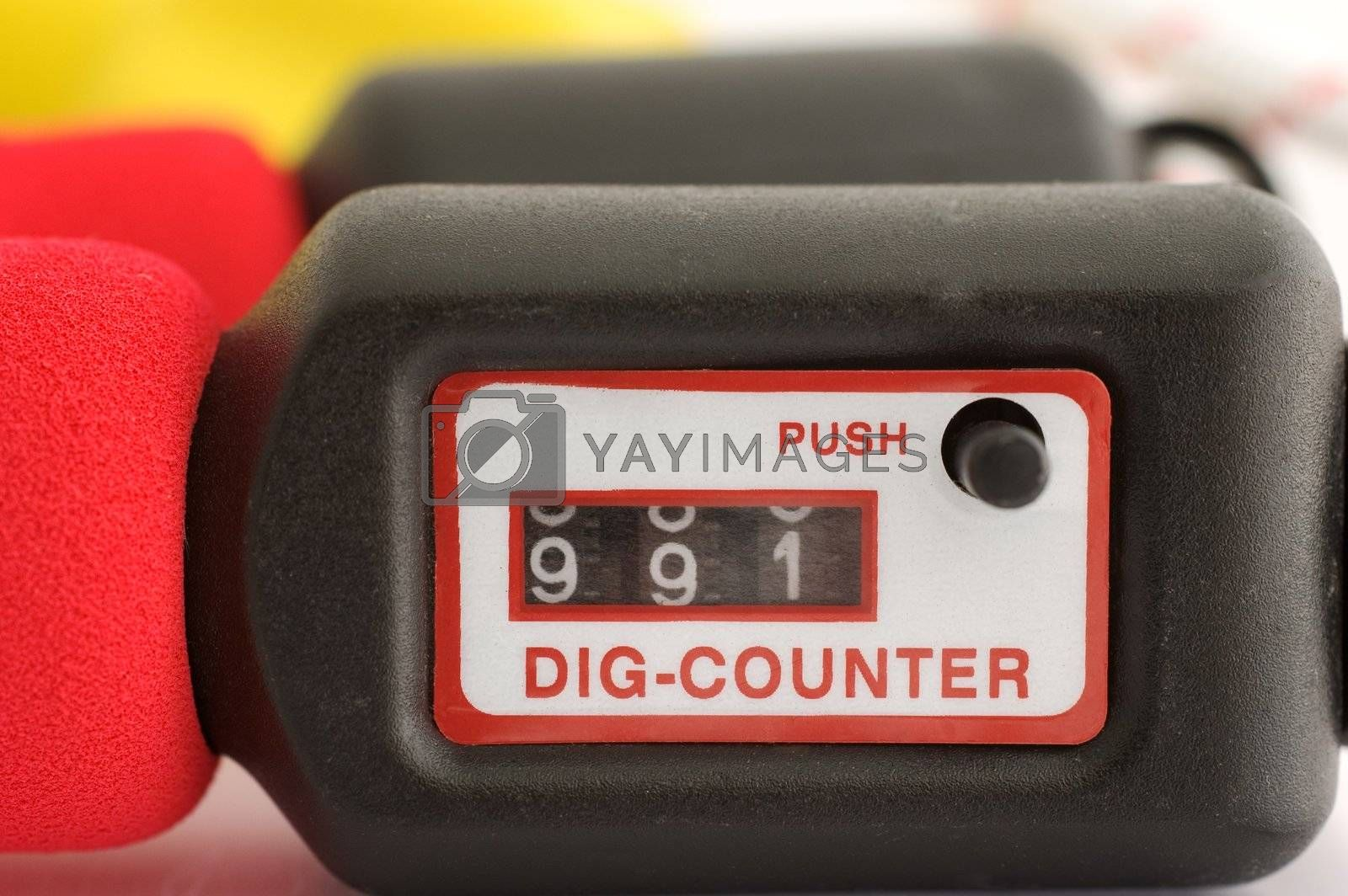 Close up of a jump rope counter