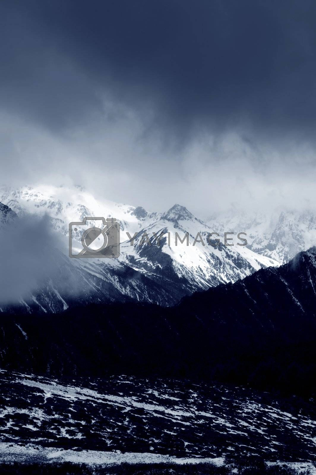 Royalty free image of winter mountain by szefei