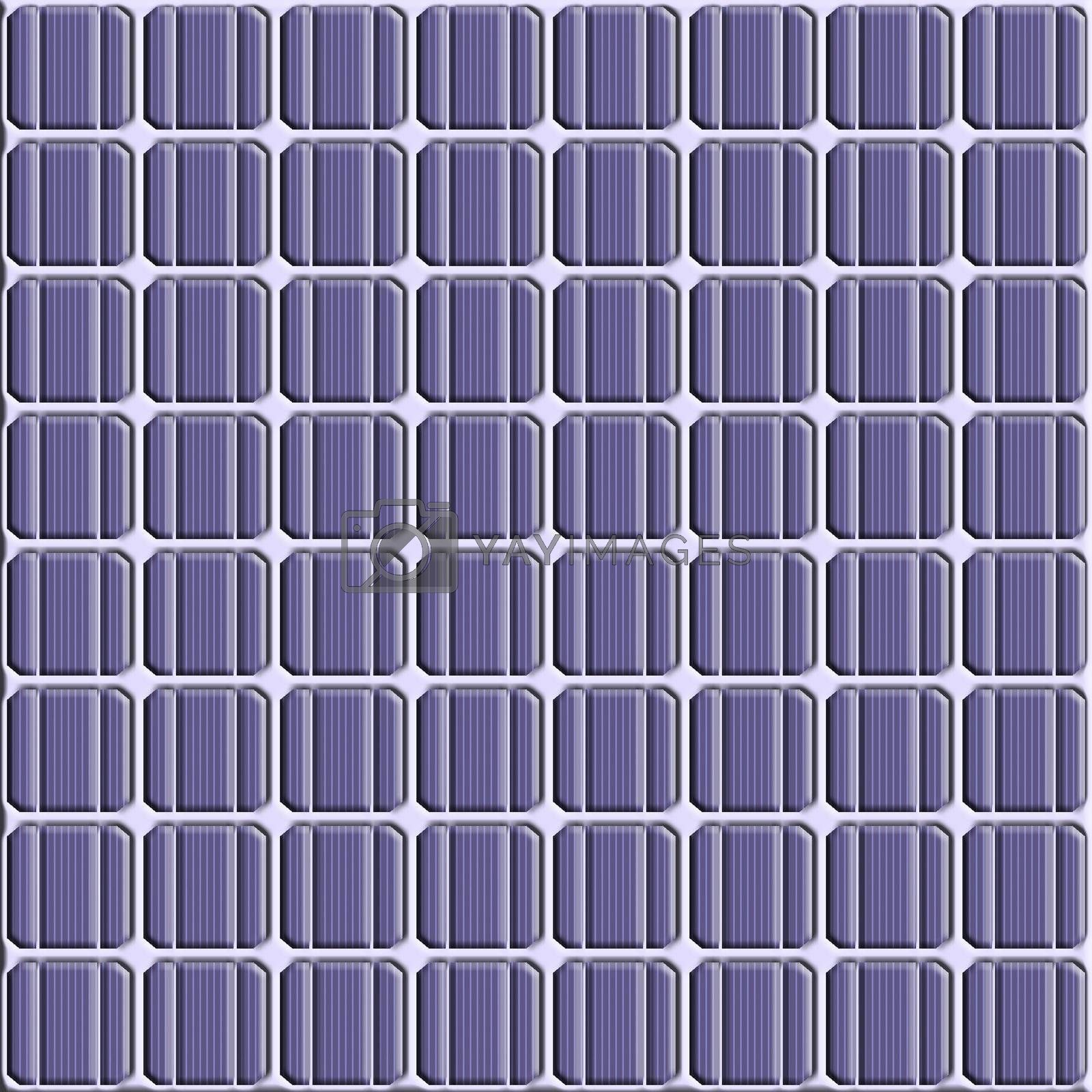 illustration of a solar cell texture pattern