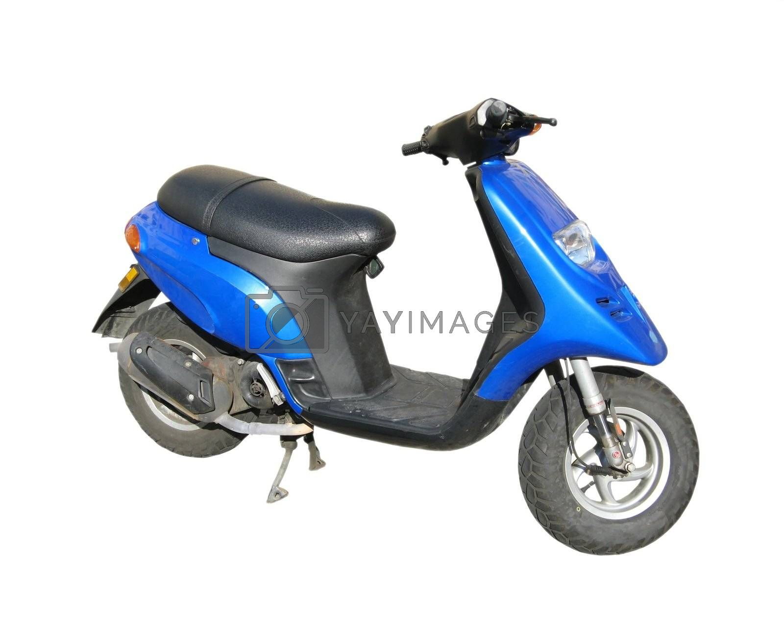an image showing a blue isolated scooter