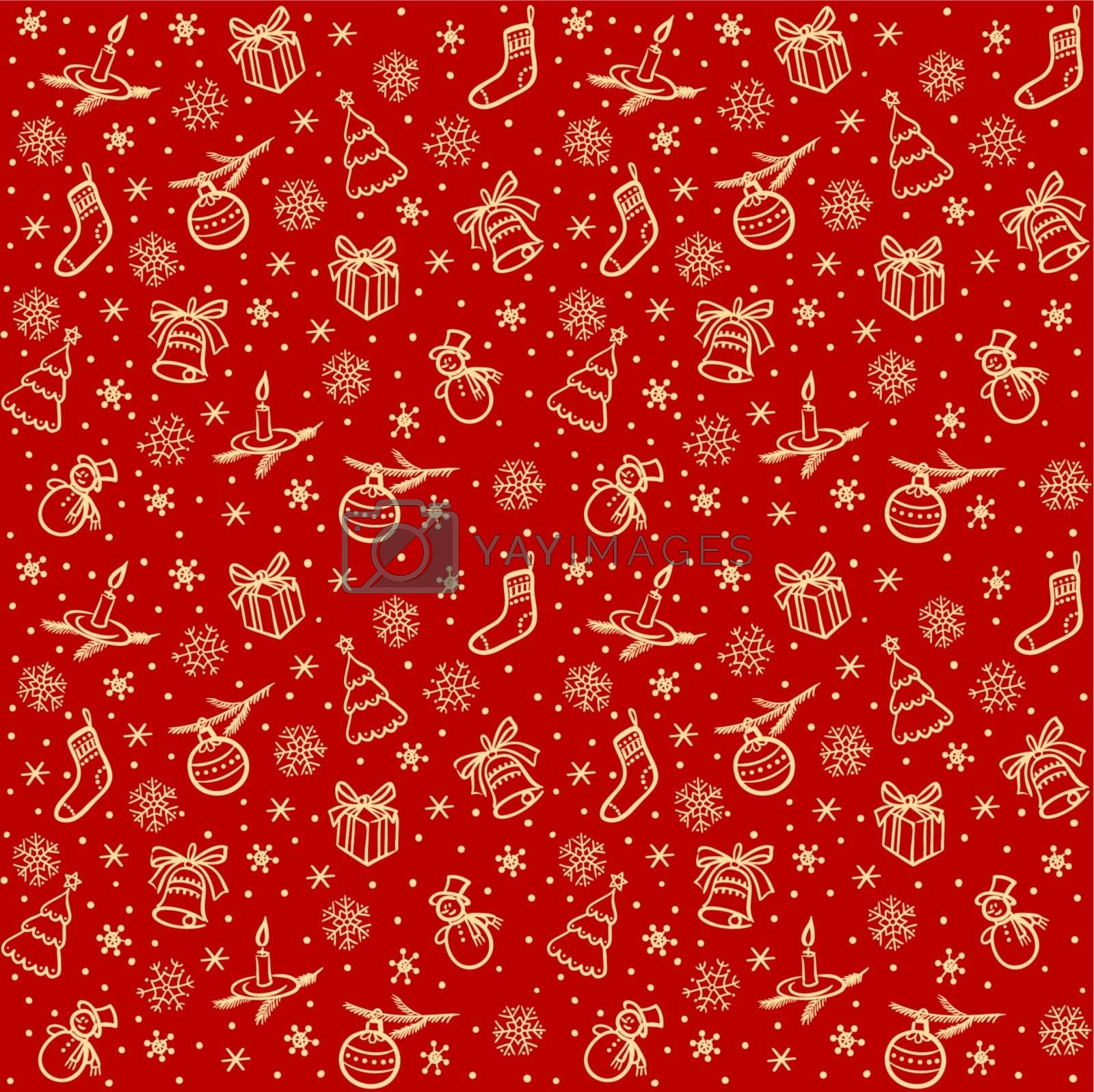 Christmas seamless vector background