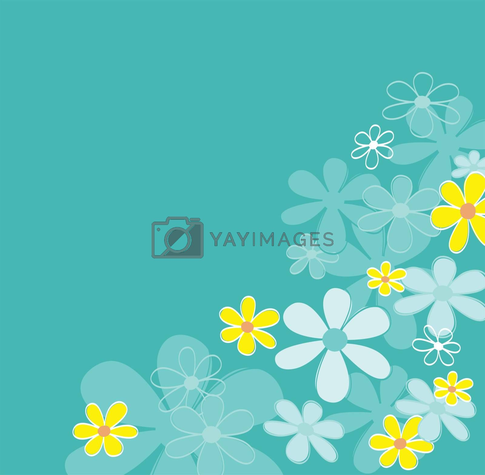 Retro flower design. Vector Illustration | easy to resize and change colors.