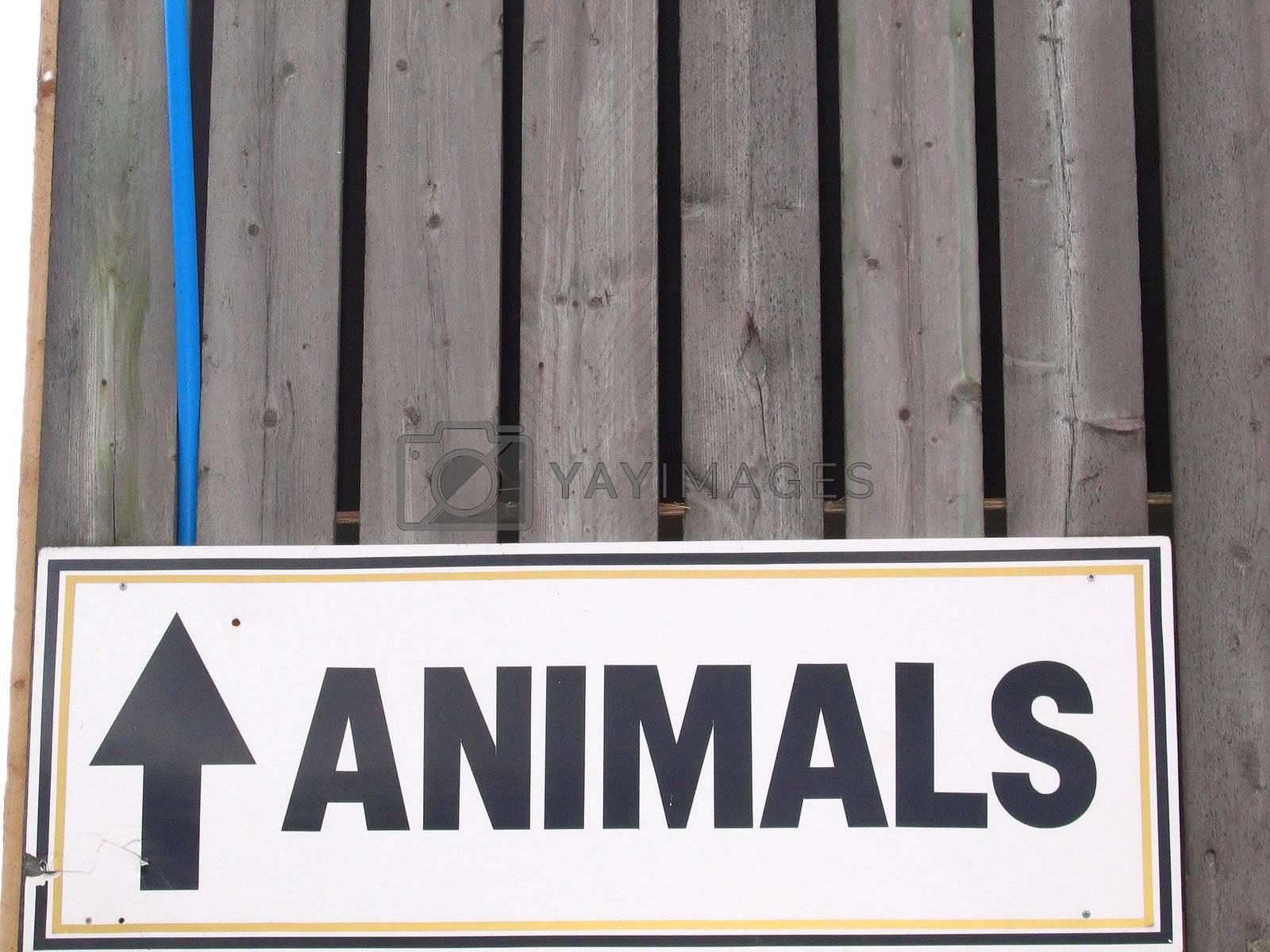 Animals Up Sign