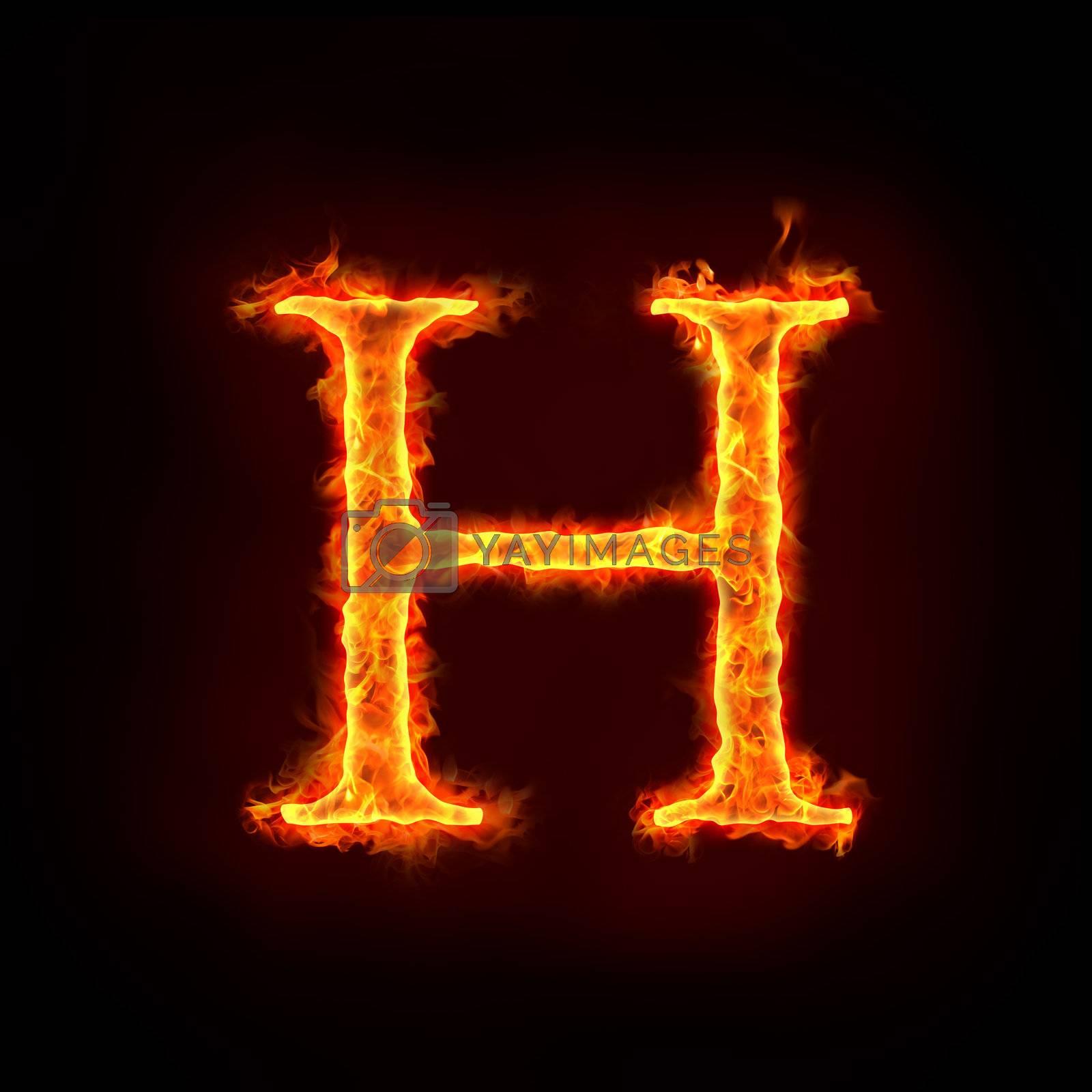 fire alphabets, H by mtkang