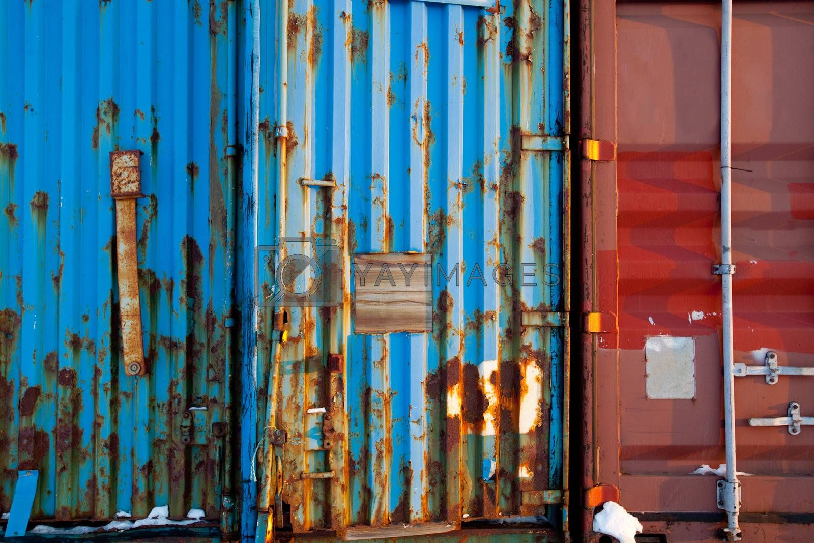 A background surface texture of a shipping container