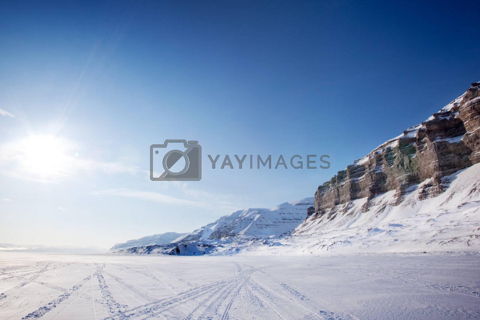 Lanscape on the Island of Spitsbergen, Svalbard, Norway