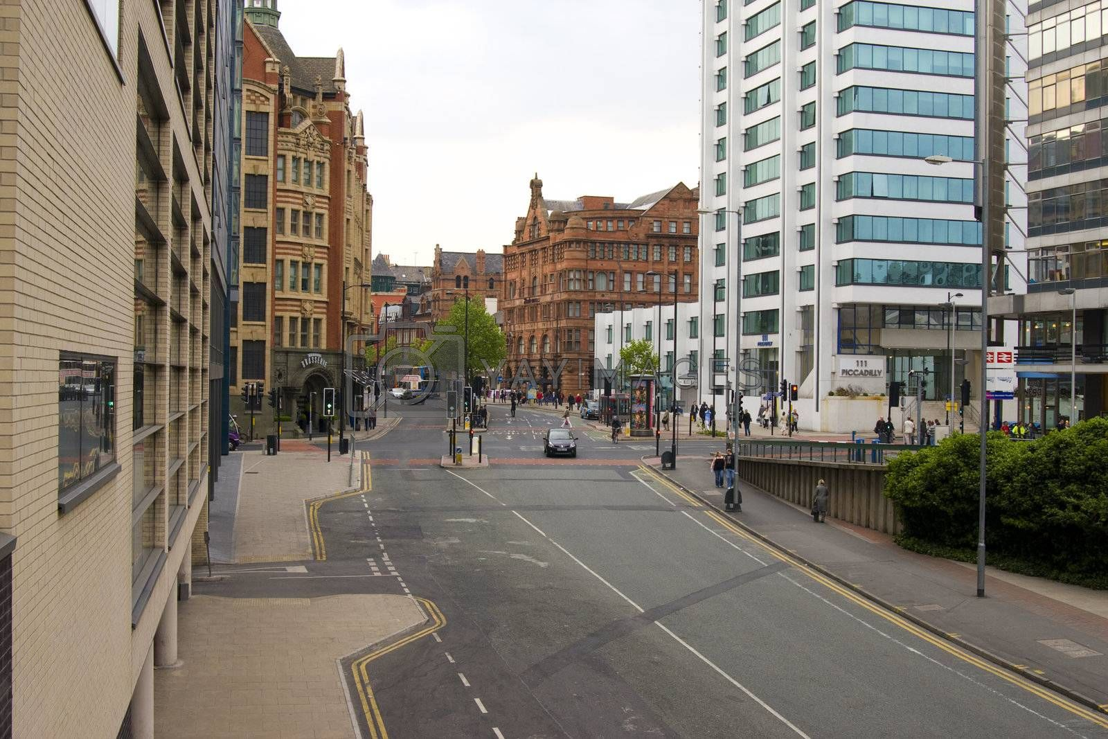 London Road, Manchester toward Piccadilly Gardens