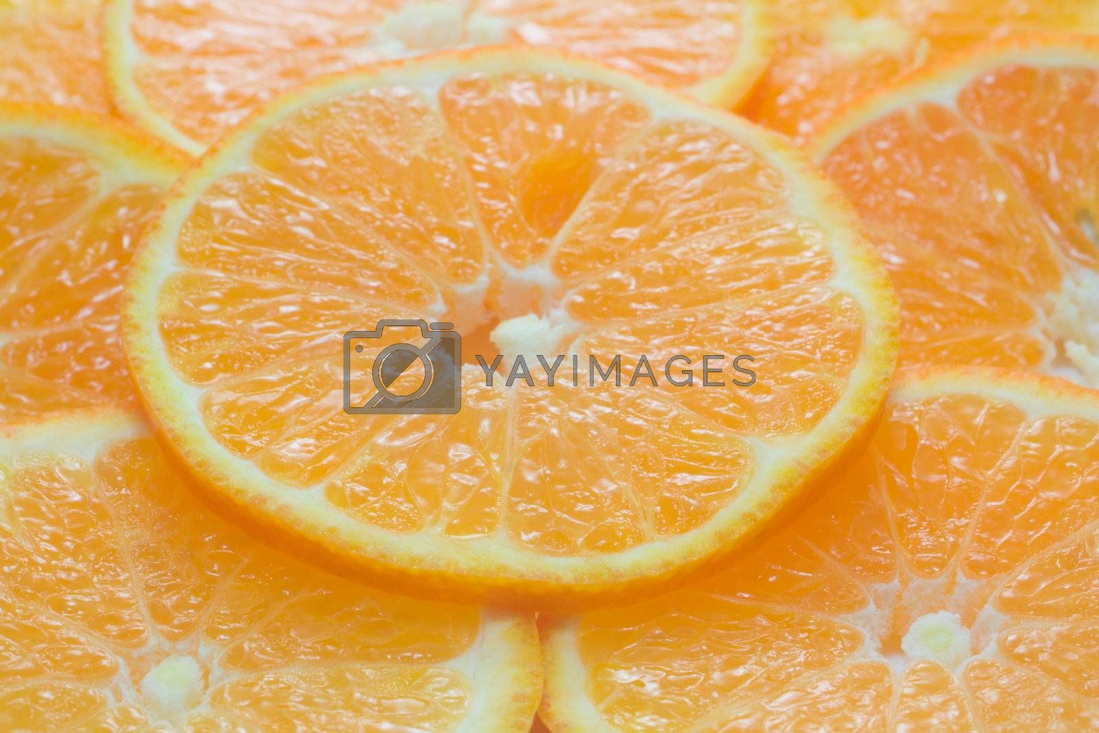 orange background from slices