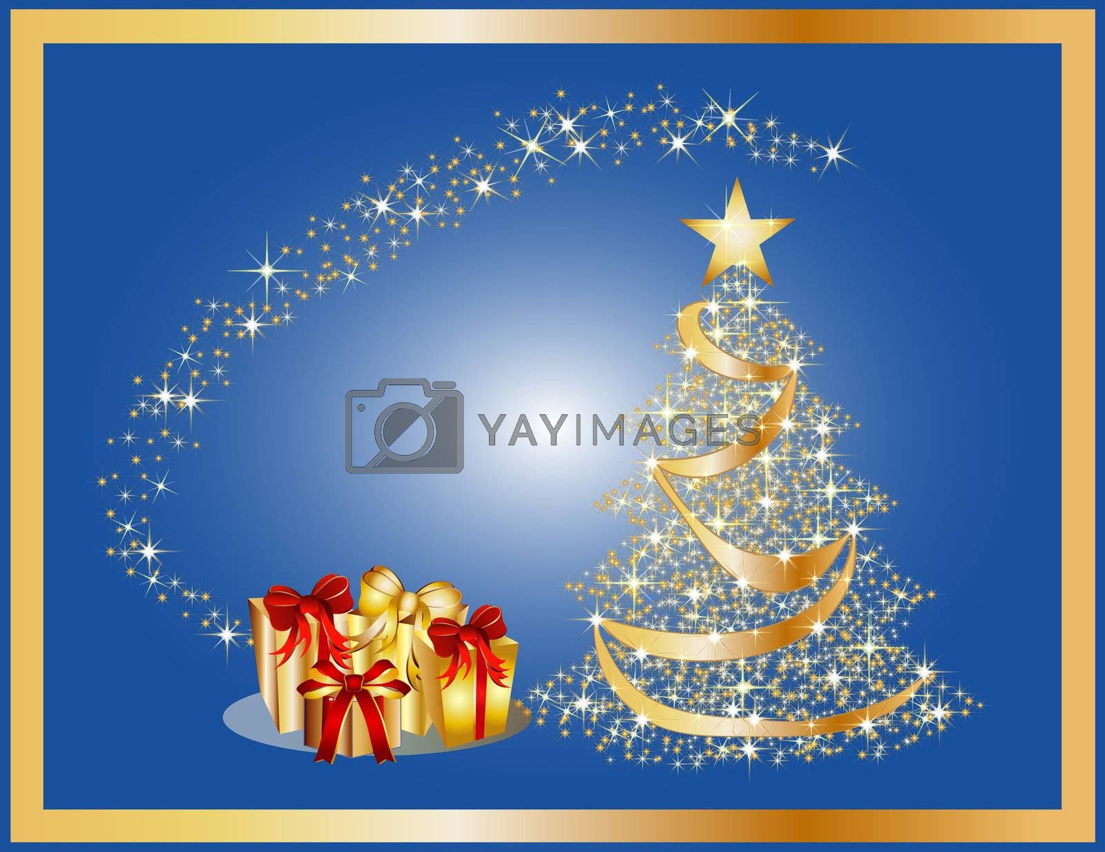 golden christmas tree  by peromarketing