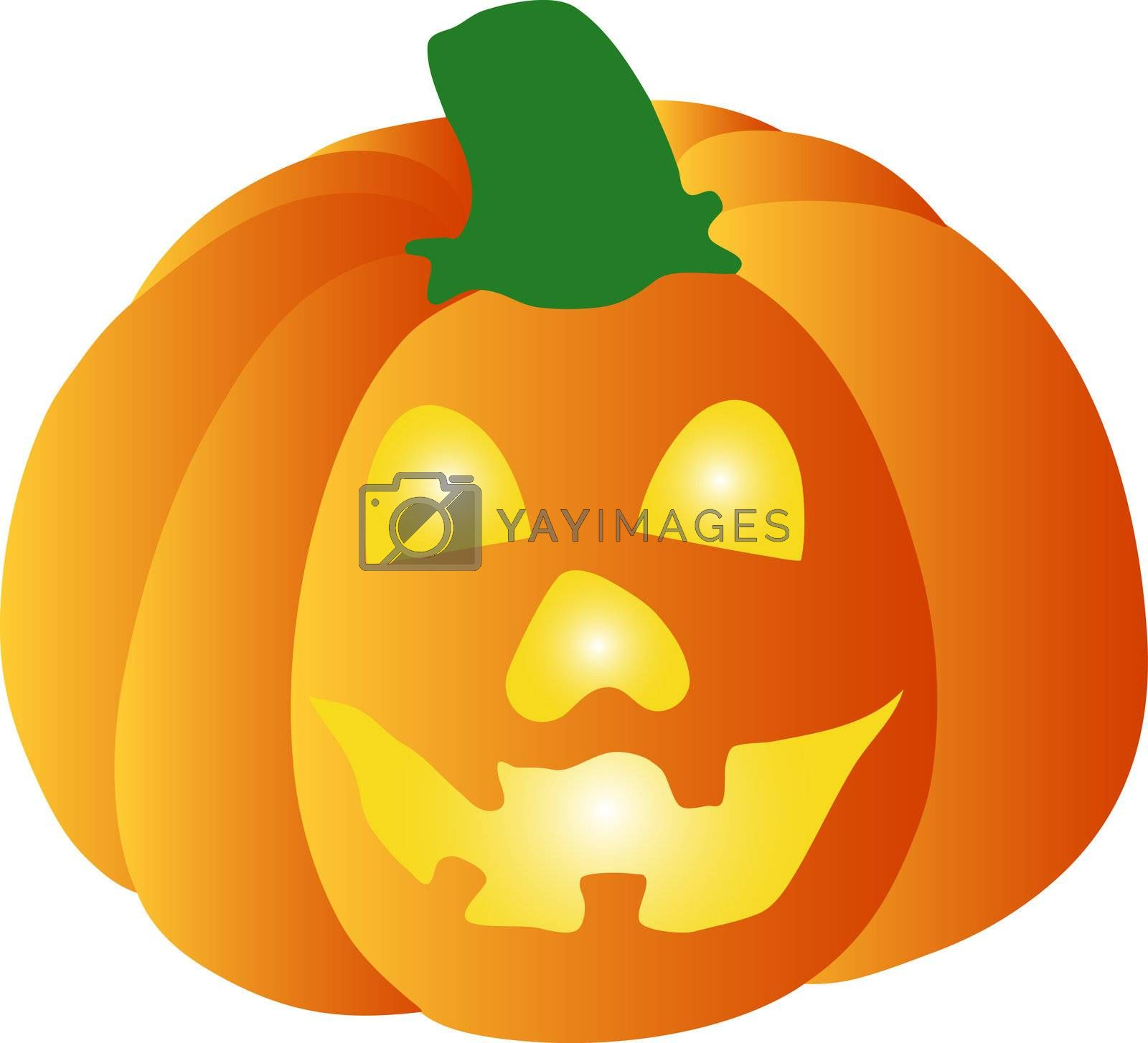 a illustration of a halloween pumpkin by peromarketing
