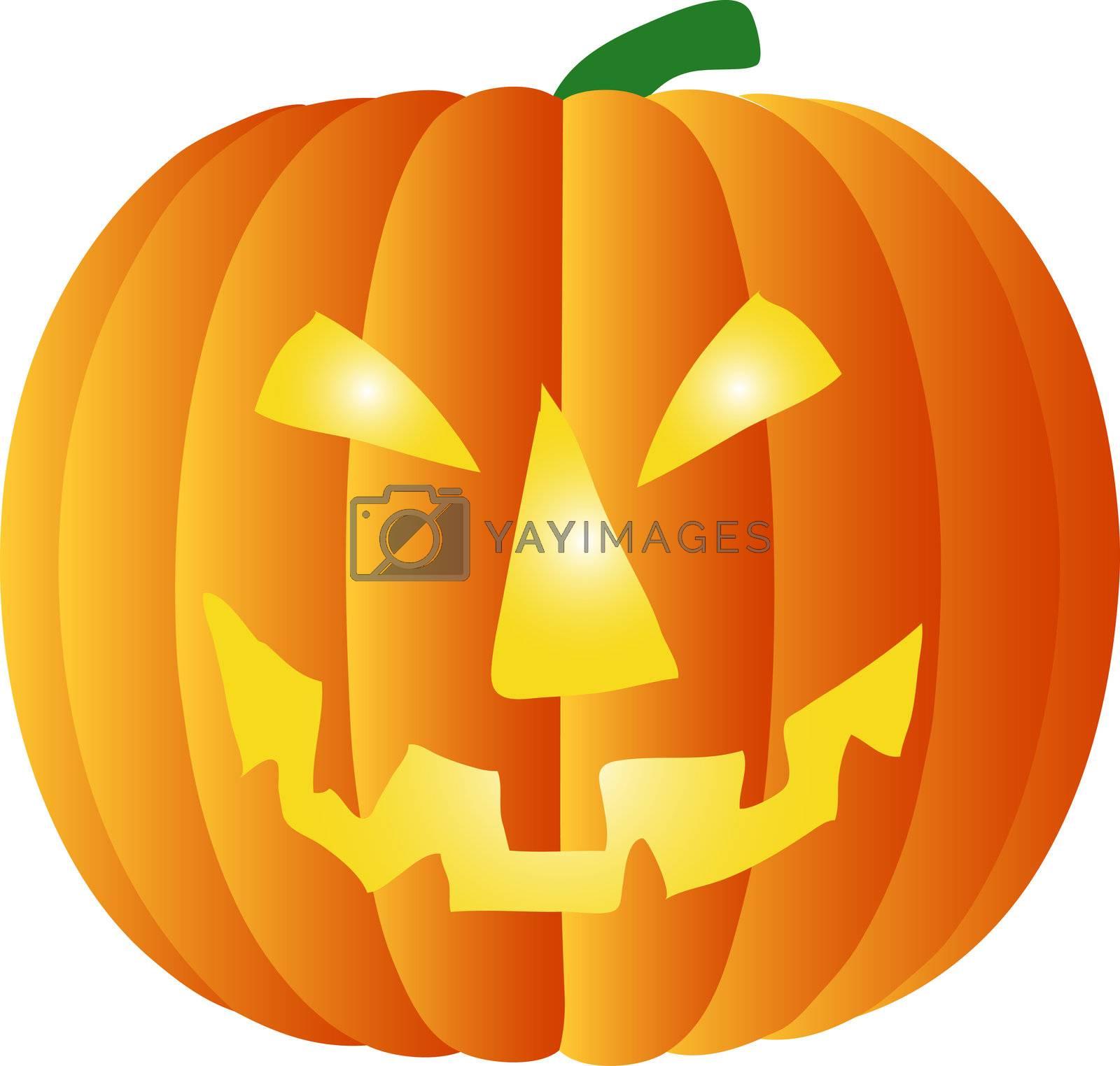 a illustration of a halloween pumpkin