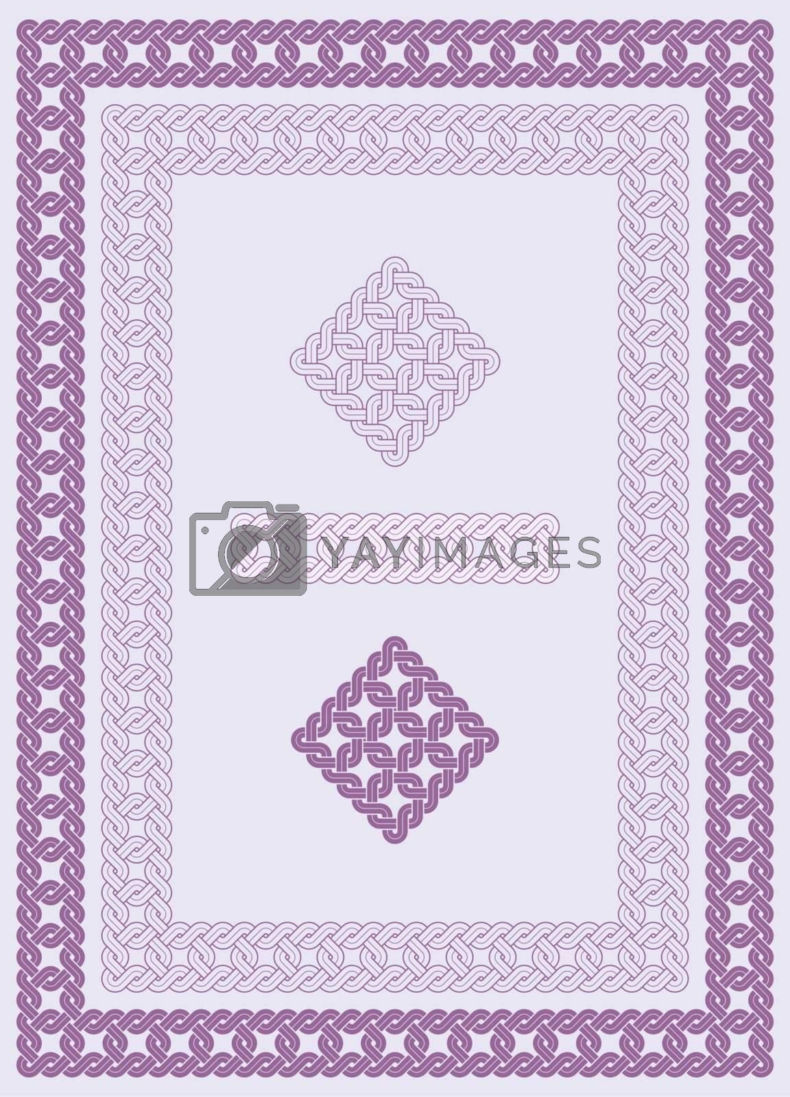 ornament, knot, stonemason, carving, fretwork, engrave, border,
